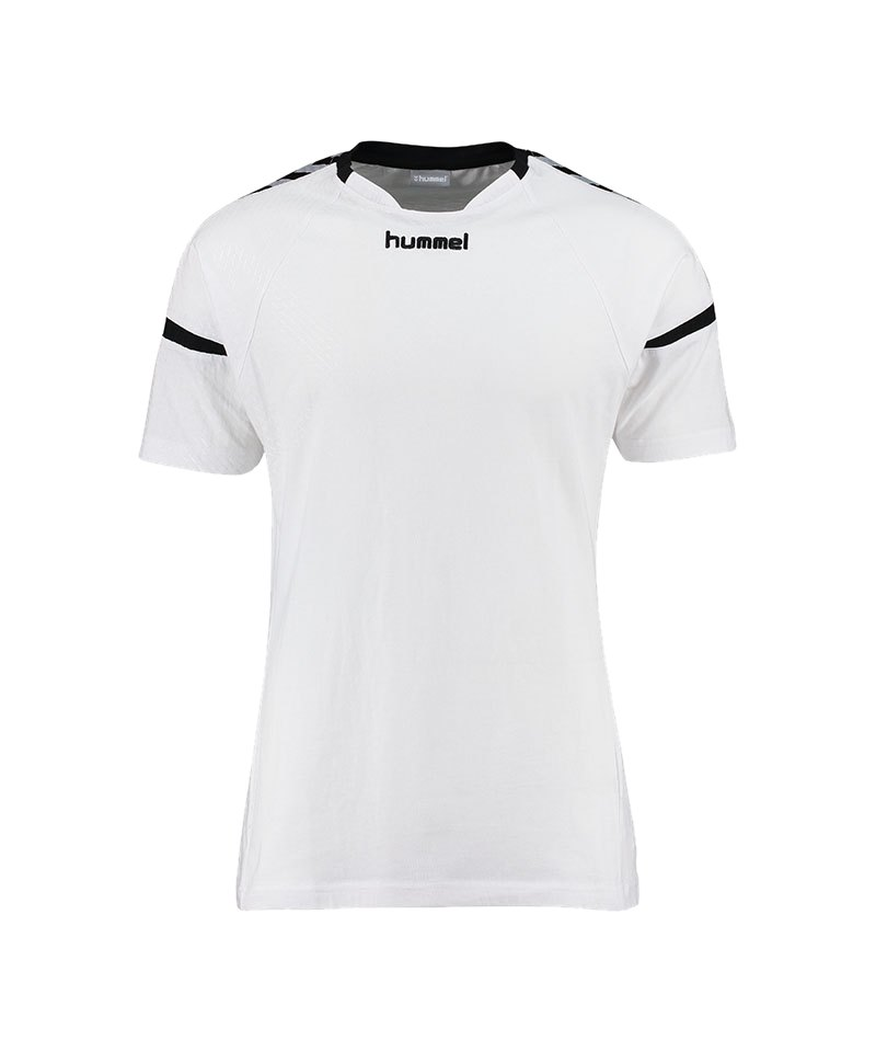 Hummel T-Shirt Authentic Charge SS Schwarz F2001 - weiss