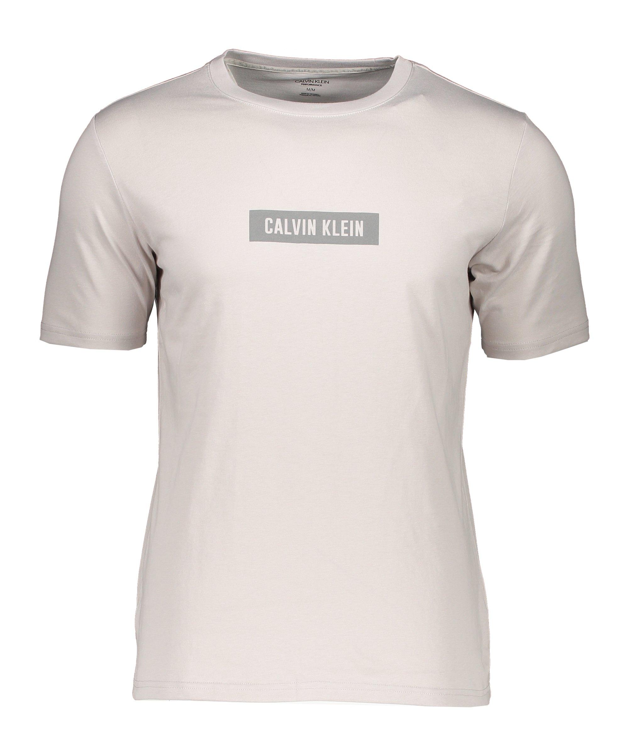 Calvin Klein T-Shirt Beige Grau F082 - beige