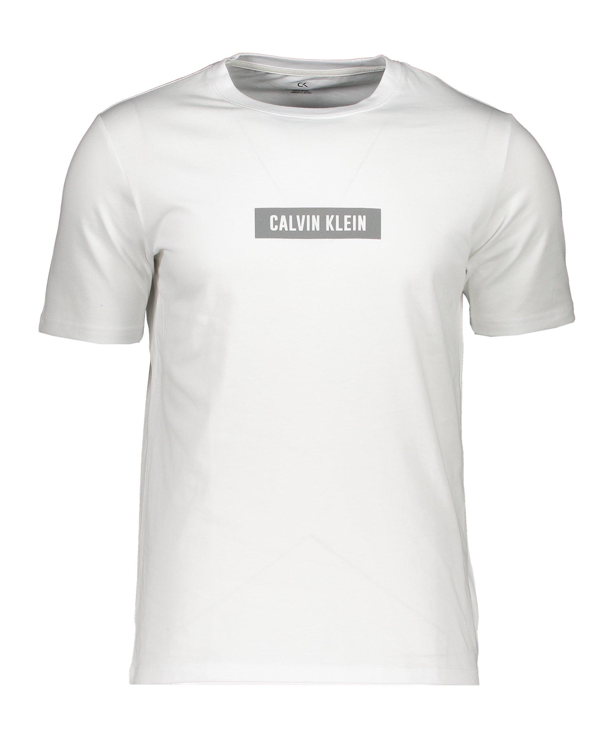 Calvin Klein T-Shirt Weiss Grau F100 - weiss