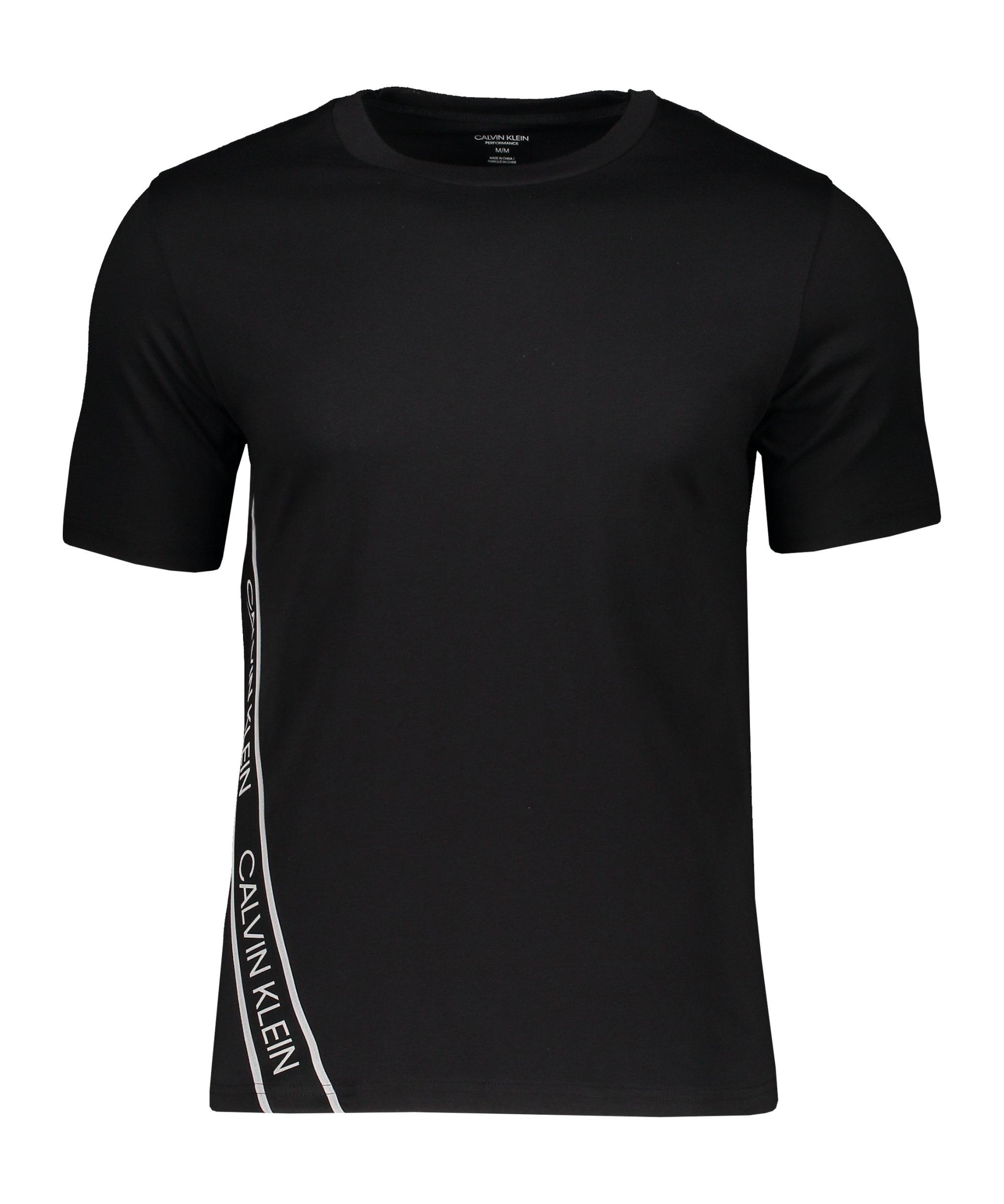 Calvin Klein T-Shirt Schwarz Silber F007 - schwarz