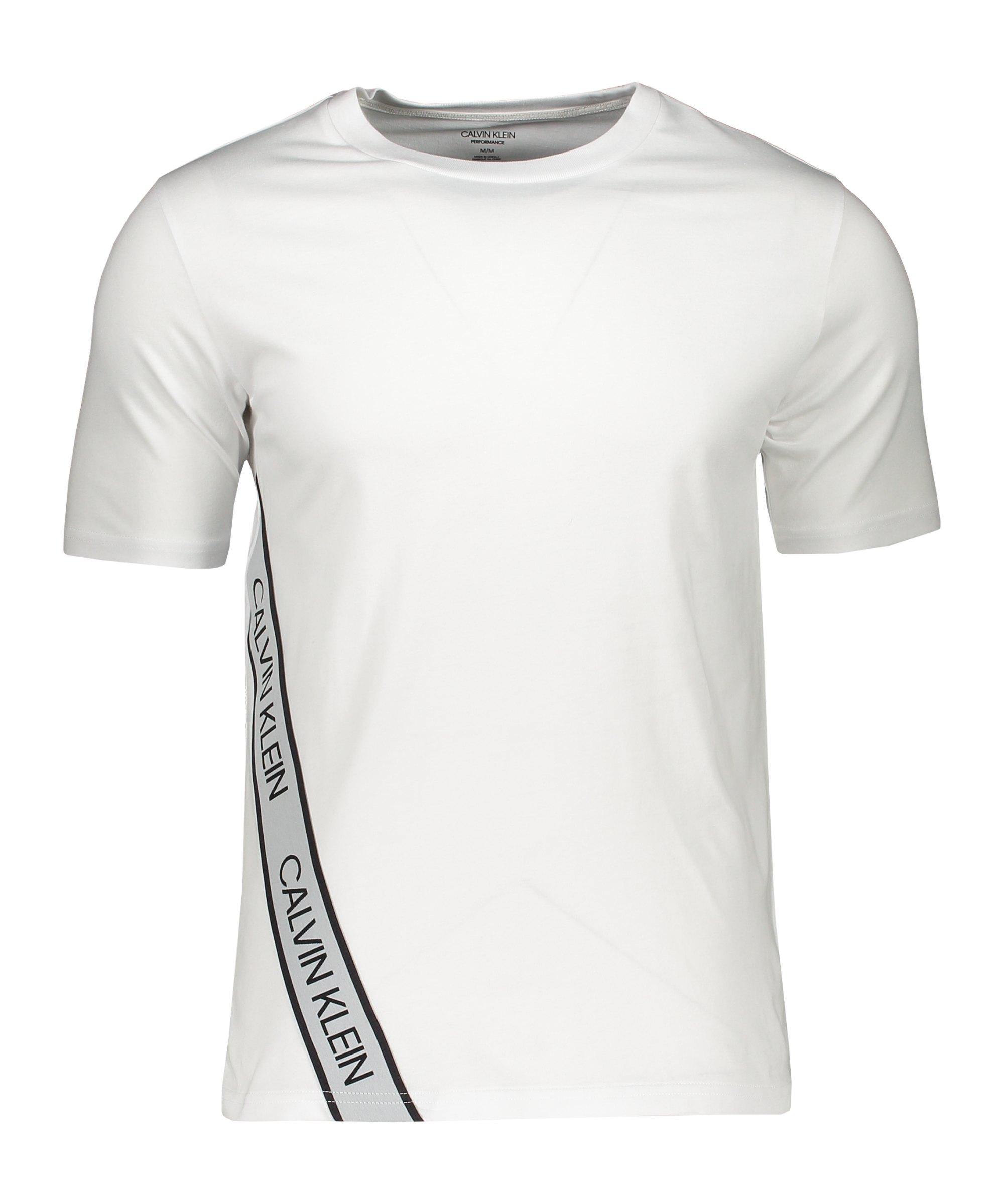 Calvin Klein T-Shirt Weiss Schwarz F100 - weiss