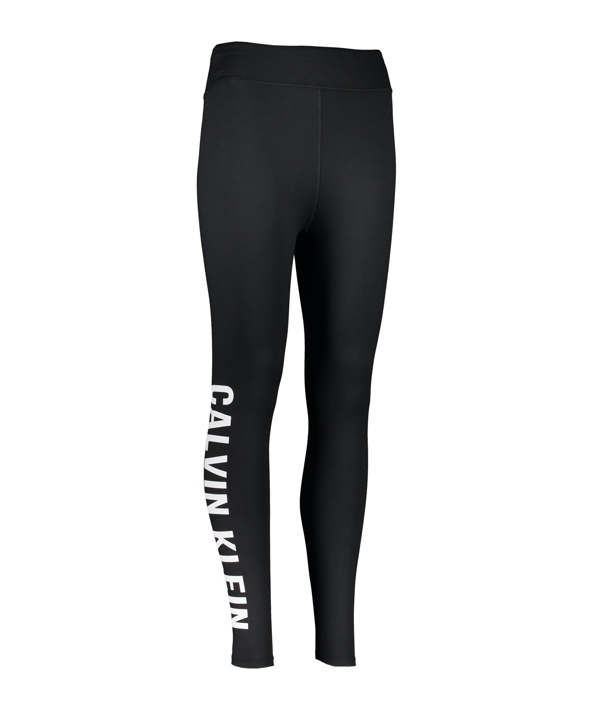 Calvin Klein Leggings Damen Schwarz Weiss F010 - schwarz