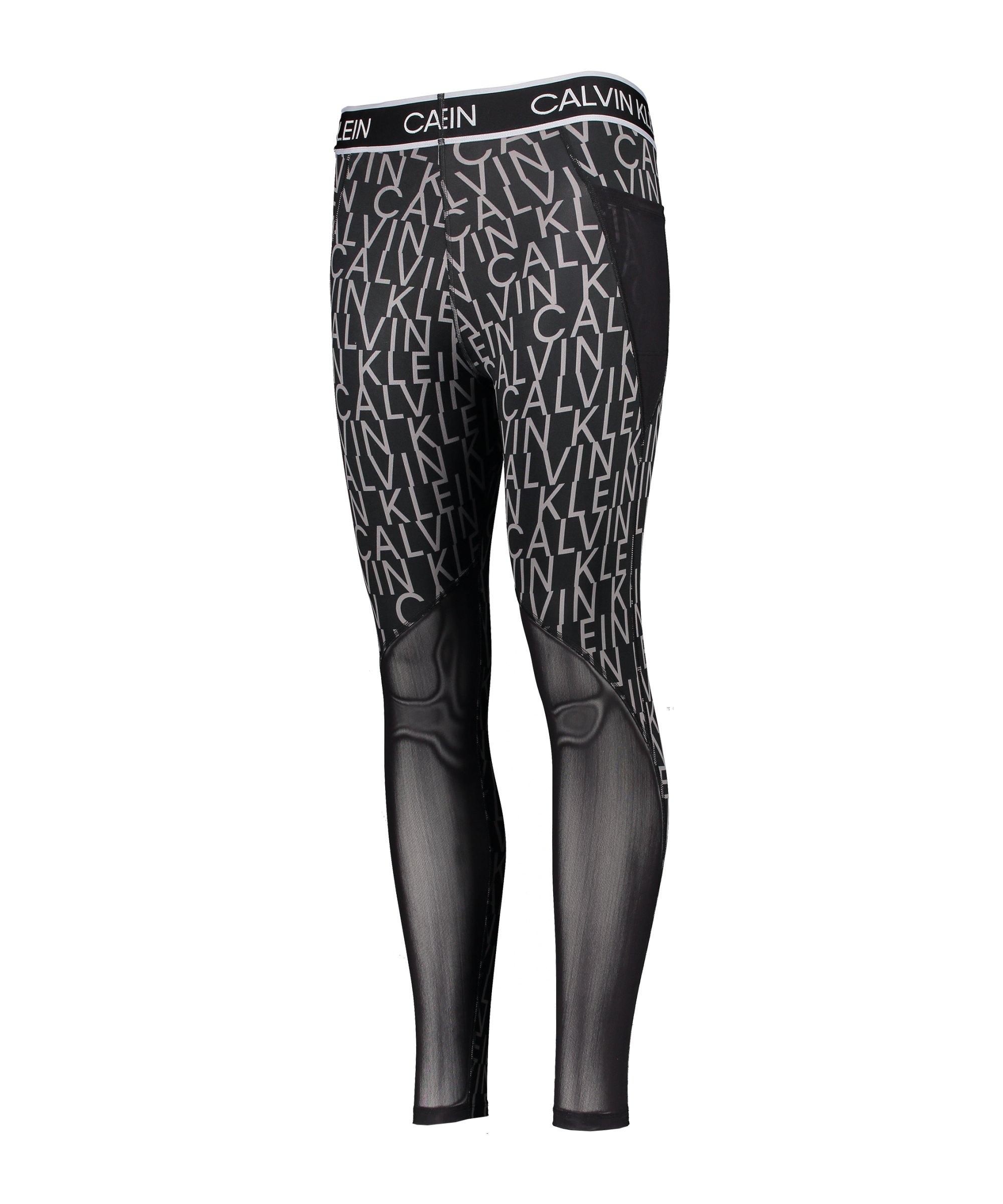 Calvin Klein Leggings Damen Schwarz Weiss F003 - schwarz