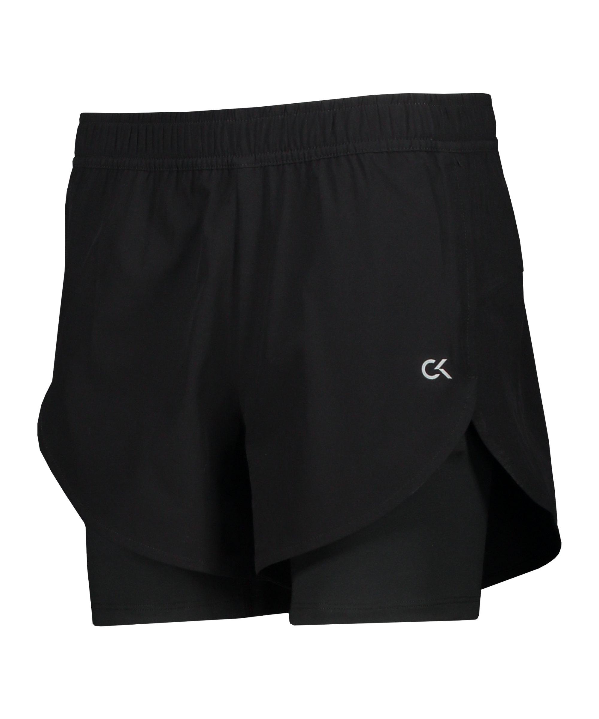 Calvin Klein Woven Short Damen Schwarz F007 - schwarz