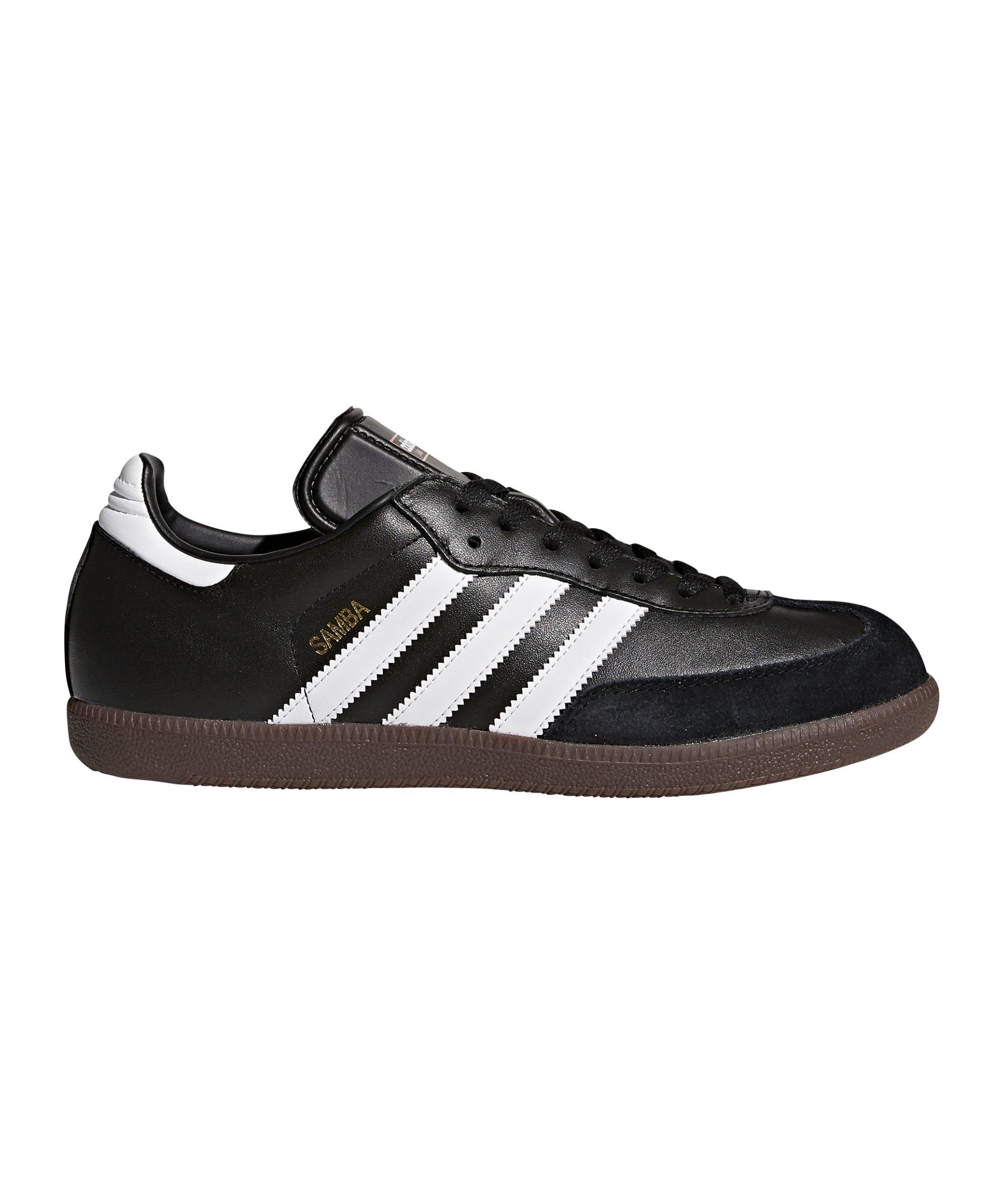 adidas Hallenschuh Samba Leder Schwarz Weiss - schwarz