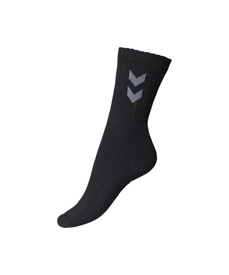 Hummel Socken Basic 3er Pack Schwarz F2001 - schwarz