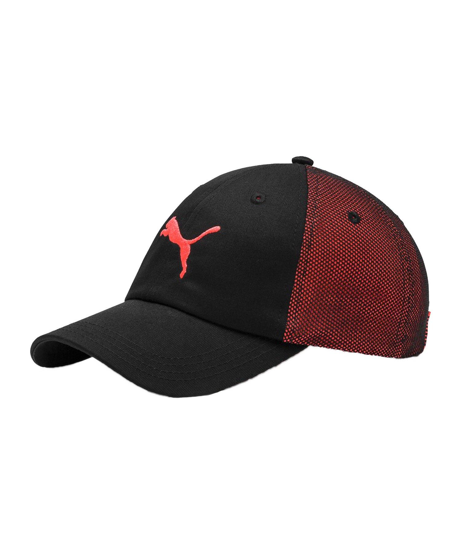 PUMA ftblNXT Cap Mütze Schwarz Rot F01 - Schwarz