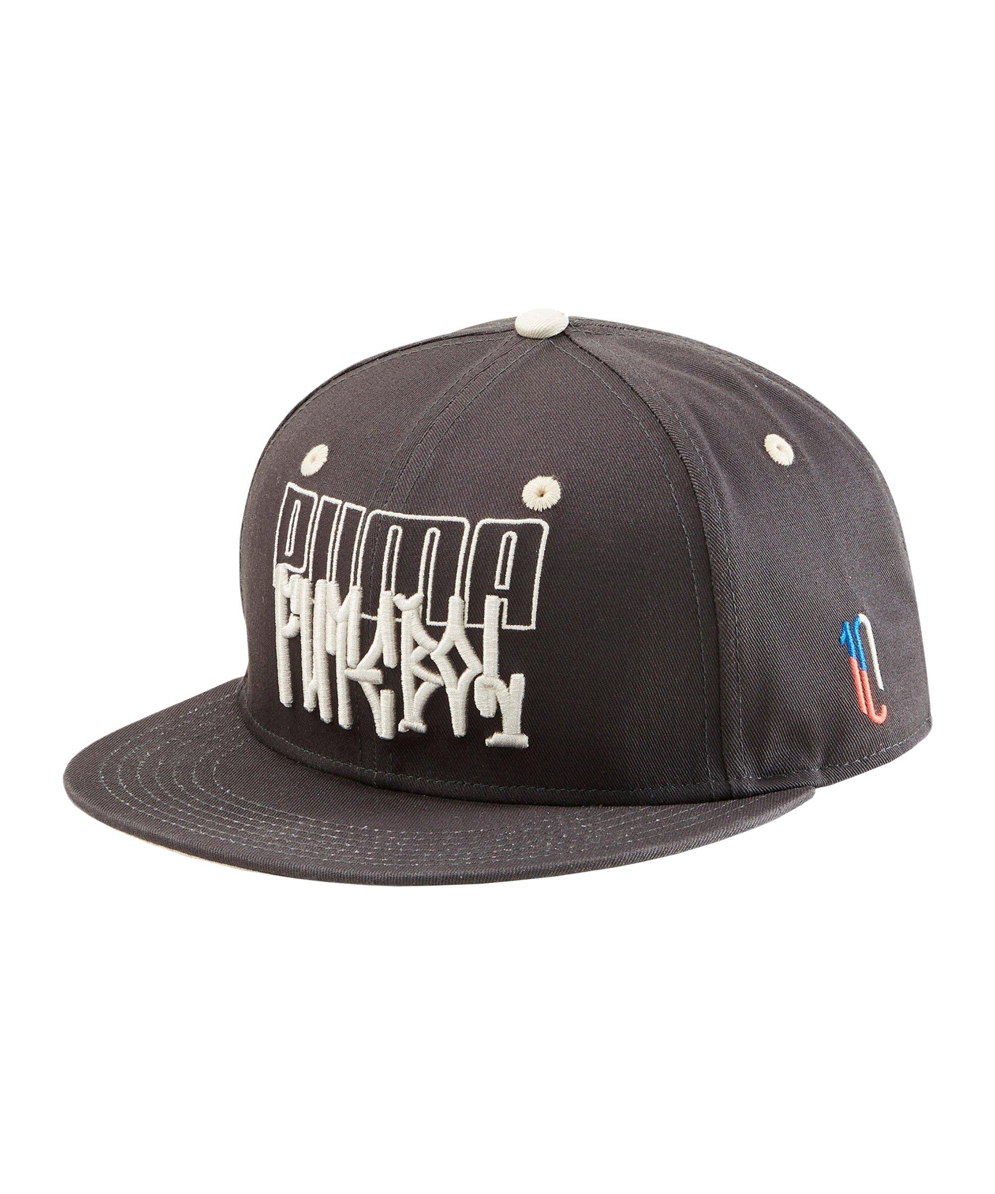 PUMA NJR Flar Brim Cap Schwarz Grau F01 - schwarz