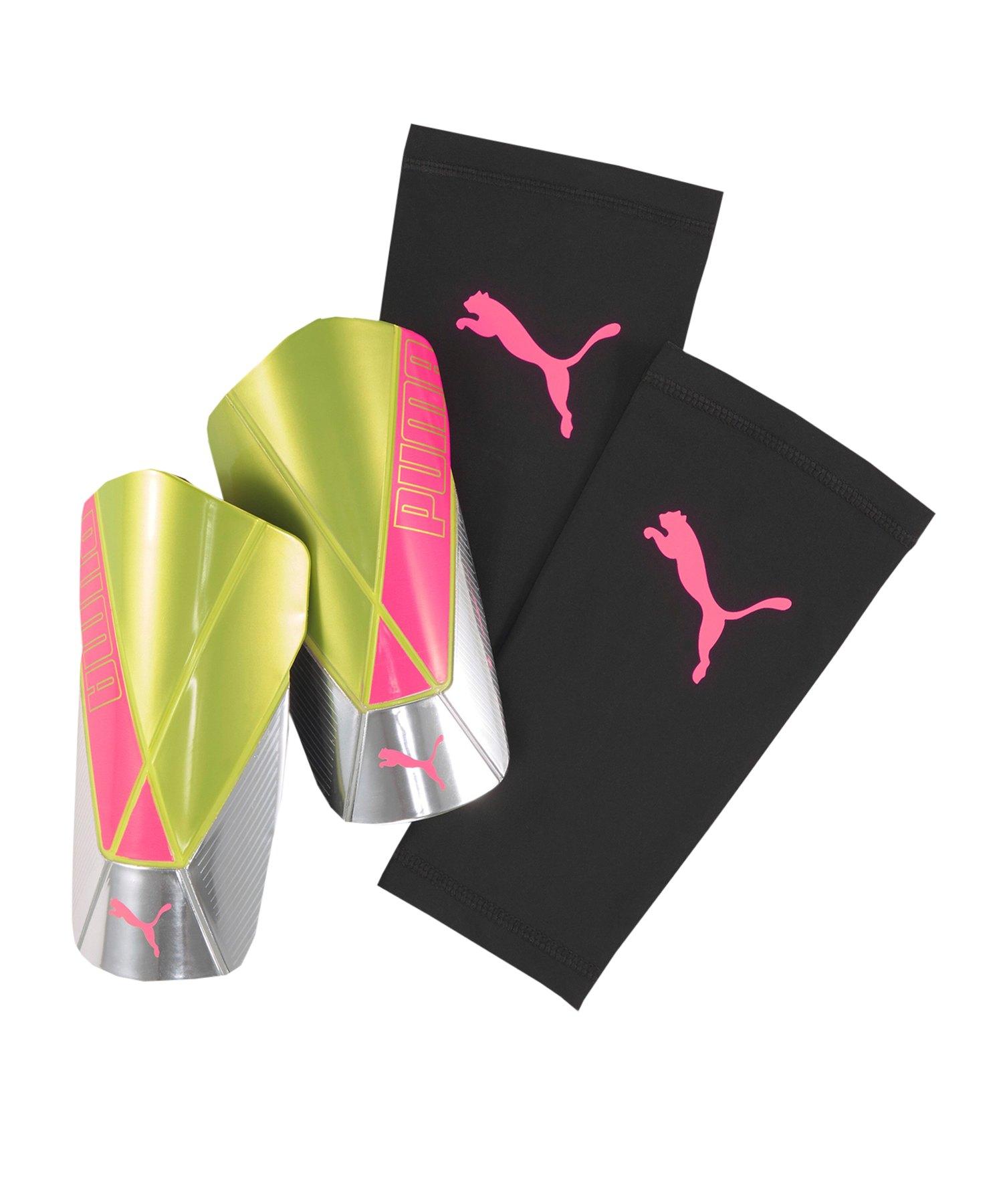 PUMA ftblNXT TEAM Rise Schienbeinschoner Kids Gelb Pink F04 - gelb