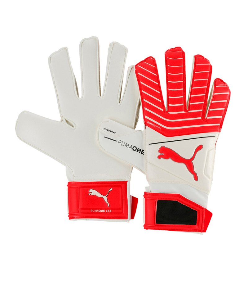 PUMA One Grip 17.3 RC TW-Handschuh Weiss Rot F21 - weiss