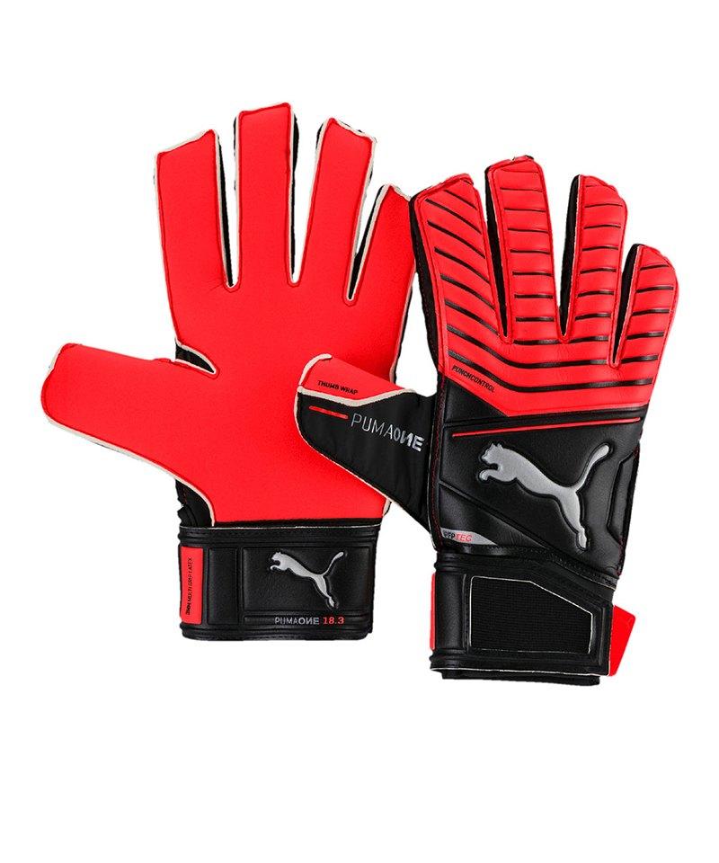 PUMA One Protect 18.3 TW-Handschuh Schwarz Rot F22 - schwarz