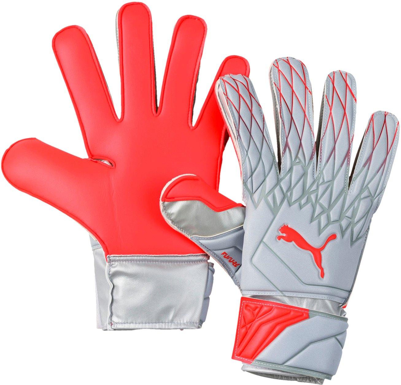 PUMA FUTURE Grip 19.4 TW-Handschuh Grau Rot F01 - Grau