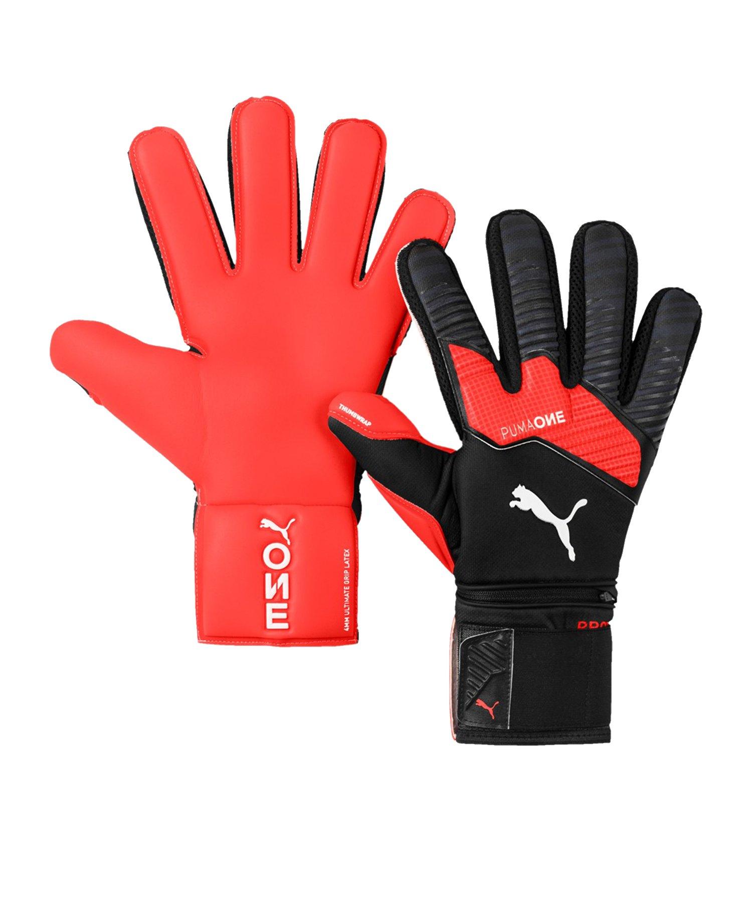 PUMA ONE Protect 1 TW-Handschuh Schwarz Rot F01 - Schwarz
