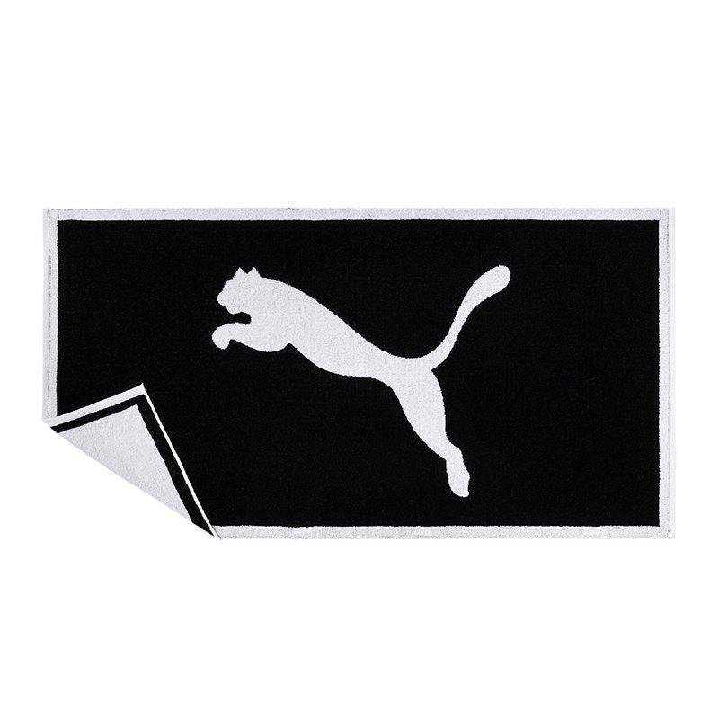 PUMA Towel Handtuch Schwarz Weiss F01 - schwarz