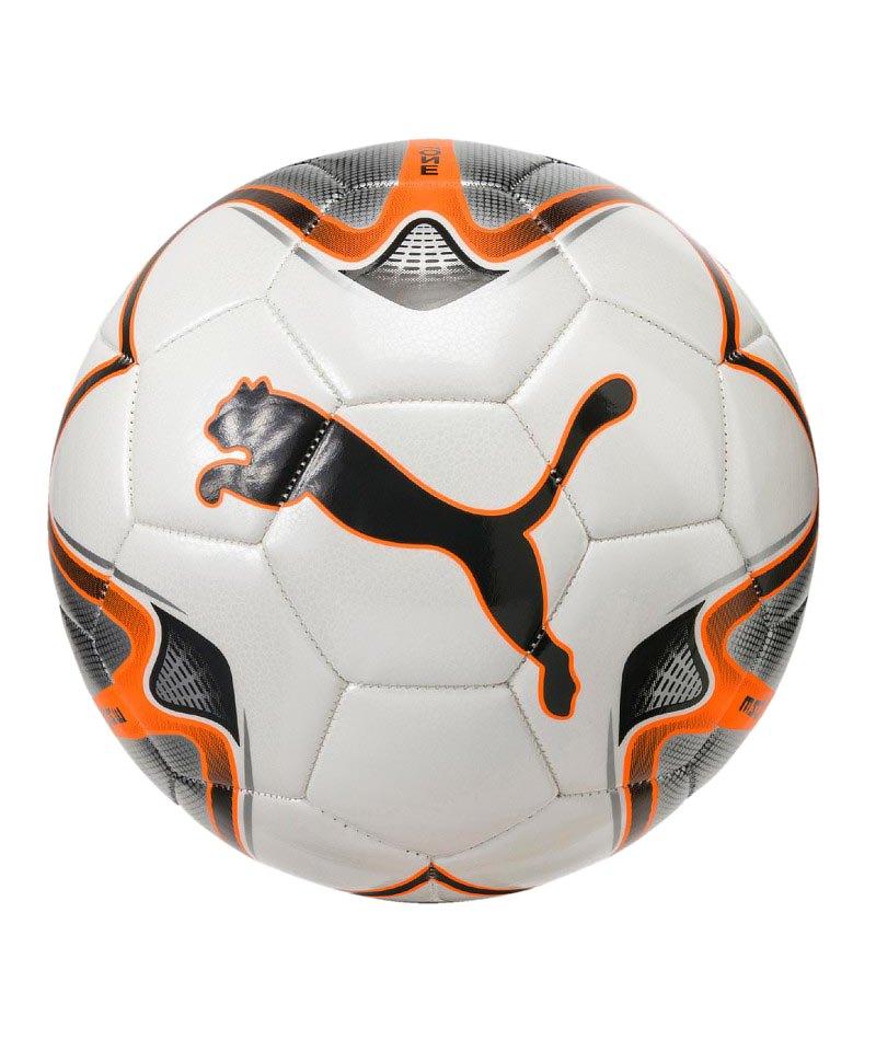 PUMA ONE Star Trainingsball Weiss Orange F01 - weiss