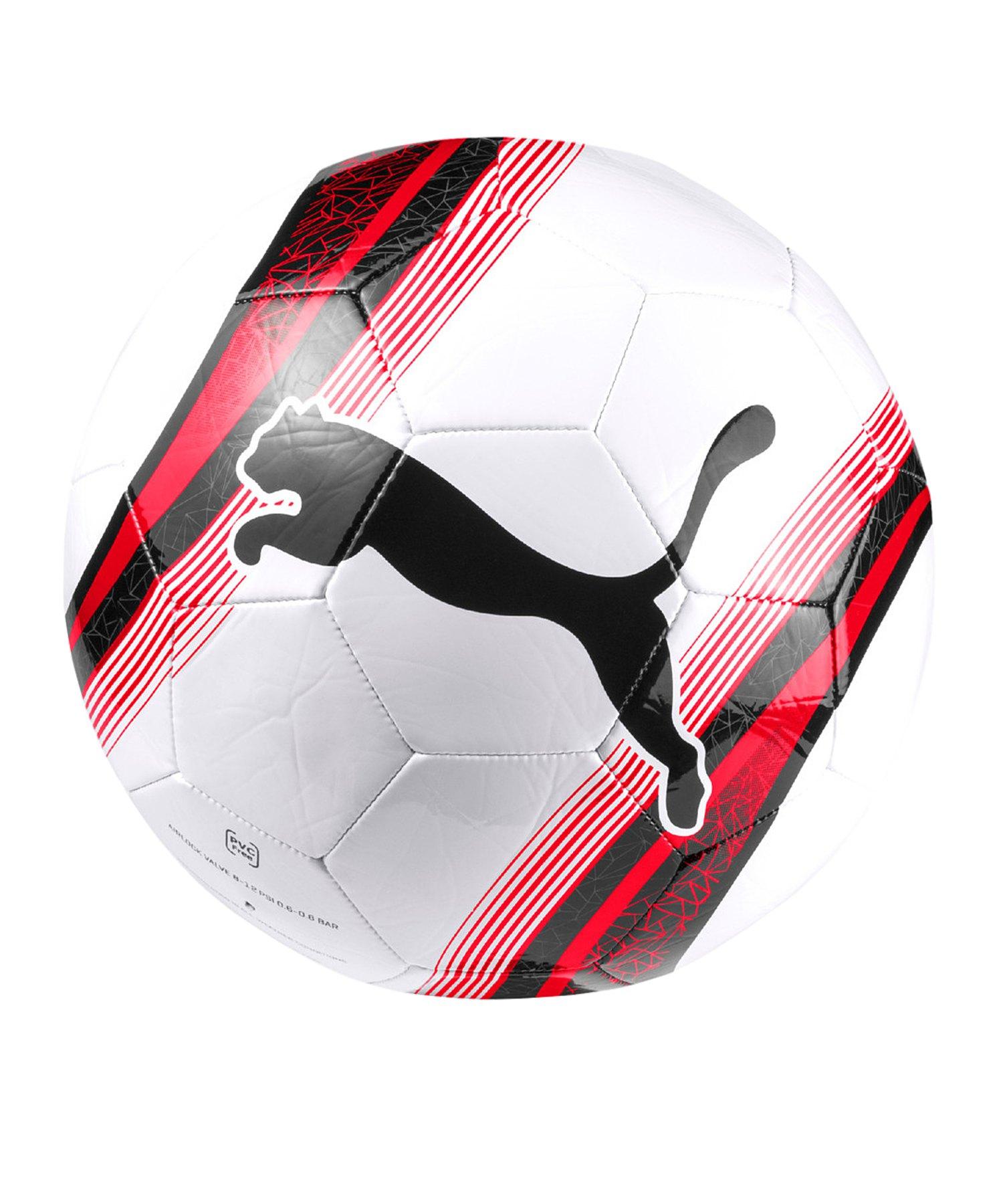 PUMA Big Cat 3 Trainingsball Weiss Rot F01 - weiss