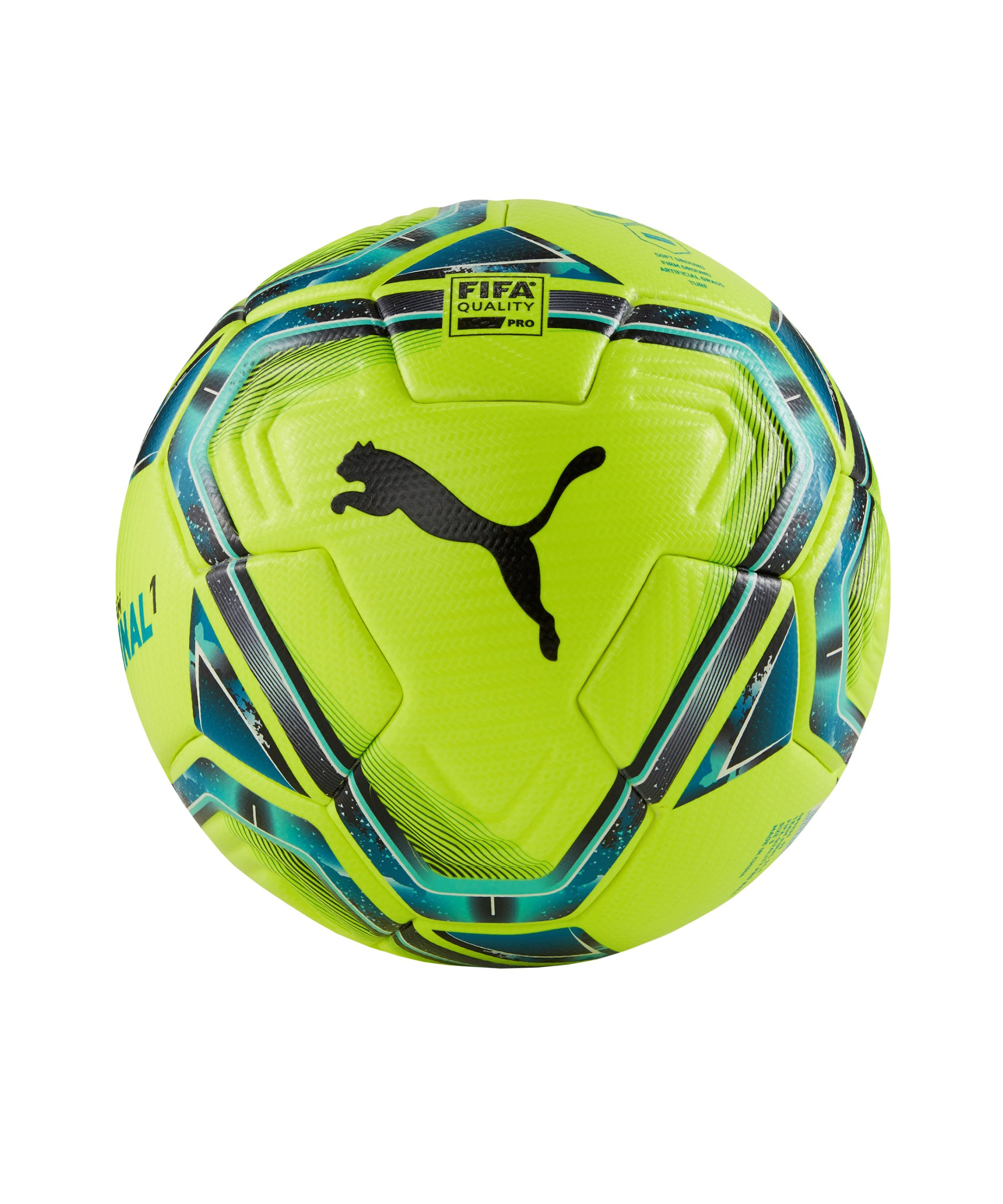 PUMA teamFINAL 21.1. FIFA Spielball Gr.5 F03 - gelb