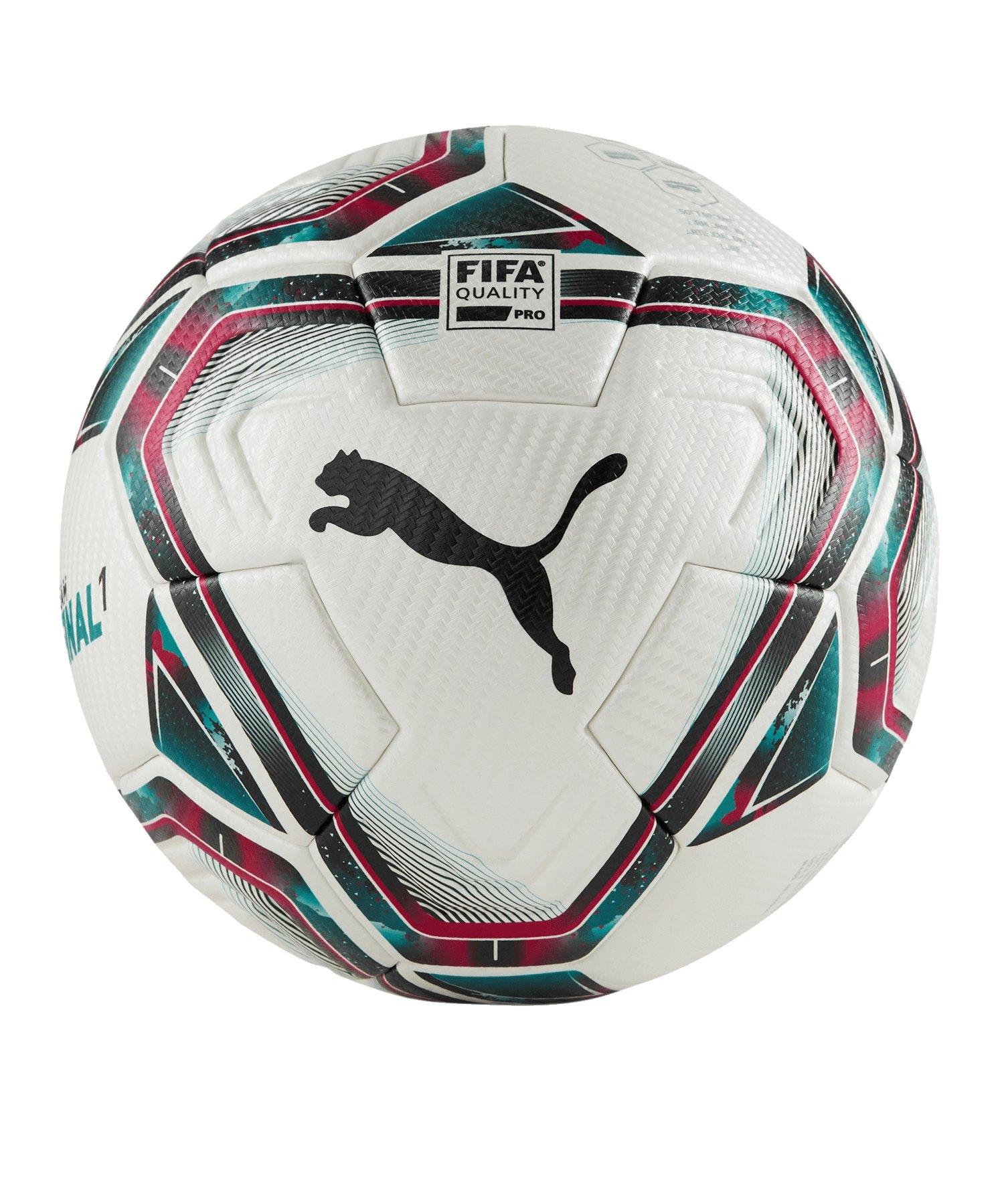 PUMA teamFINAL 21.1. FIFA Spielball Gr.5 Weiss F01 - weiss