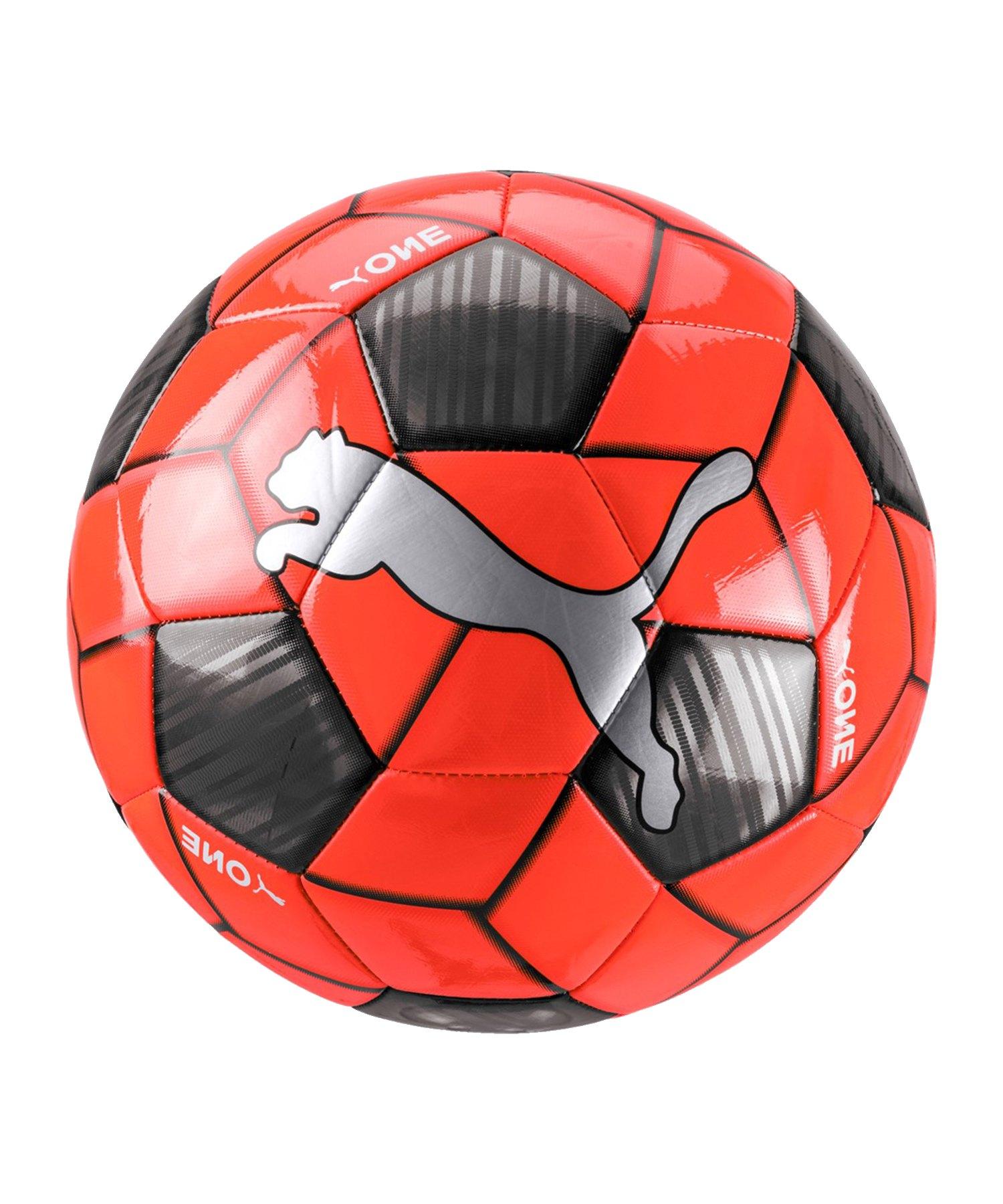 PUMA ONE Strap Trainingsball Rot Silber Weiss F02 - Rot