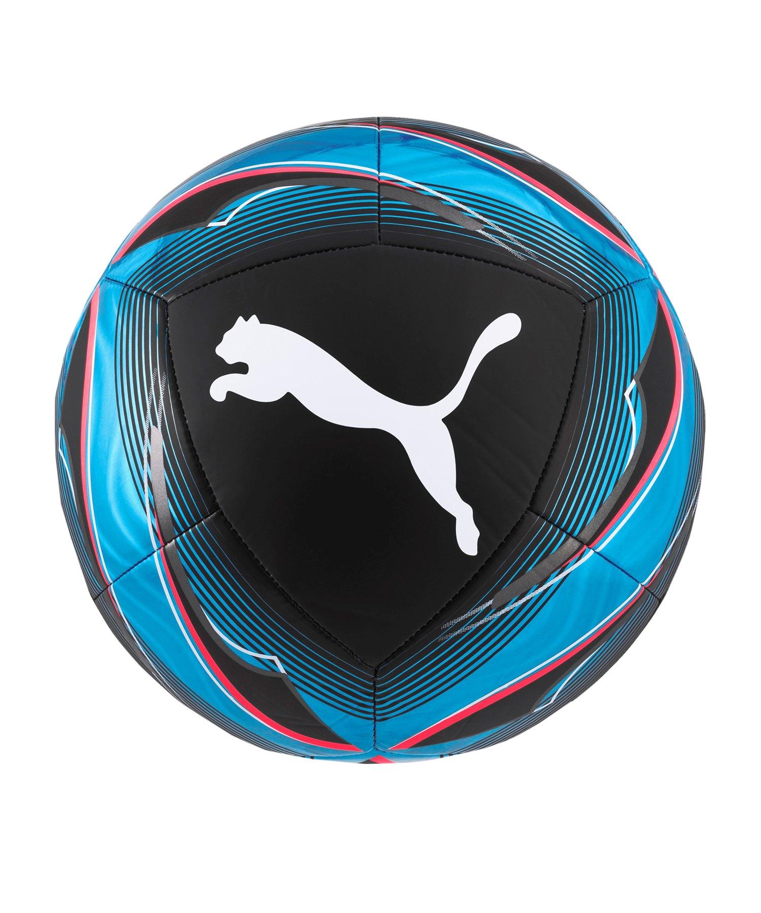PUMA ICON Trainingsball Schwarz Blau F01 - schwarz