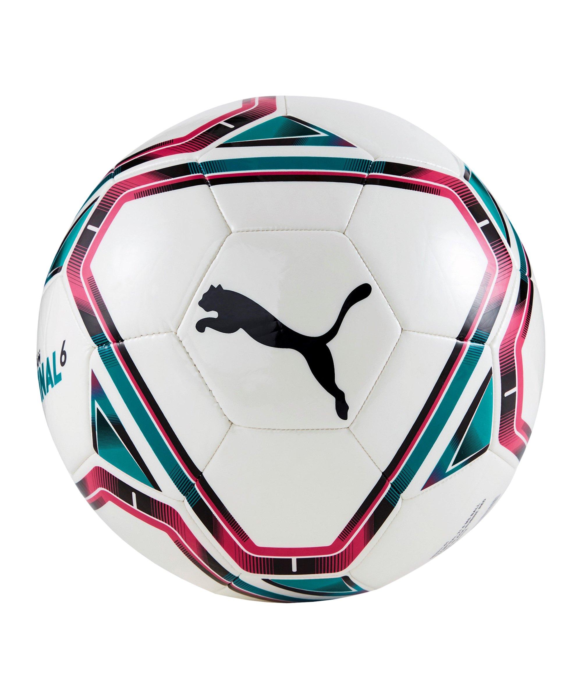 PUMA teamFINAL 21.6 Ball Weiss Rot F01 - weiss