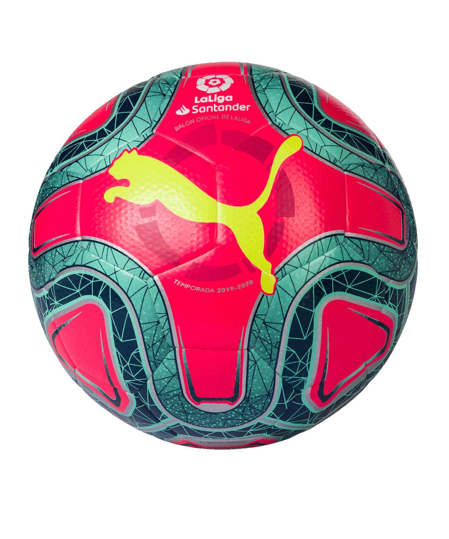 PUMA LaLiga 1 Hybrid Trainingsball Pink Grün F02 - pink