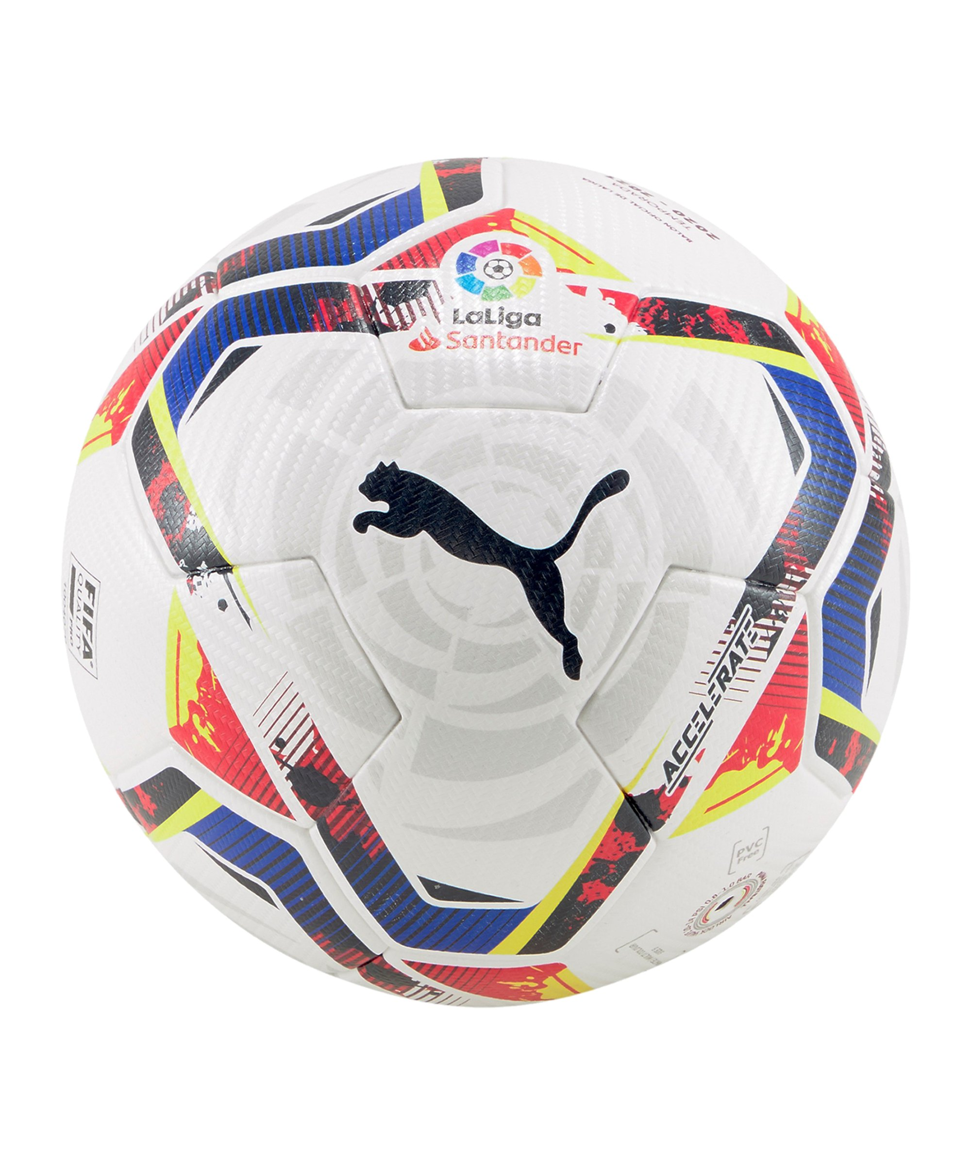 PUMA LaLiga 1 Accelerate Spielball Weiss F01 - weiss