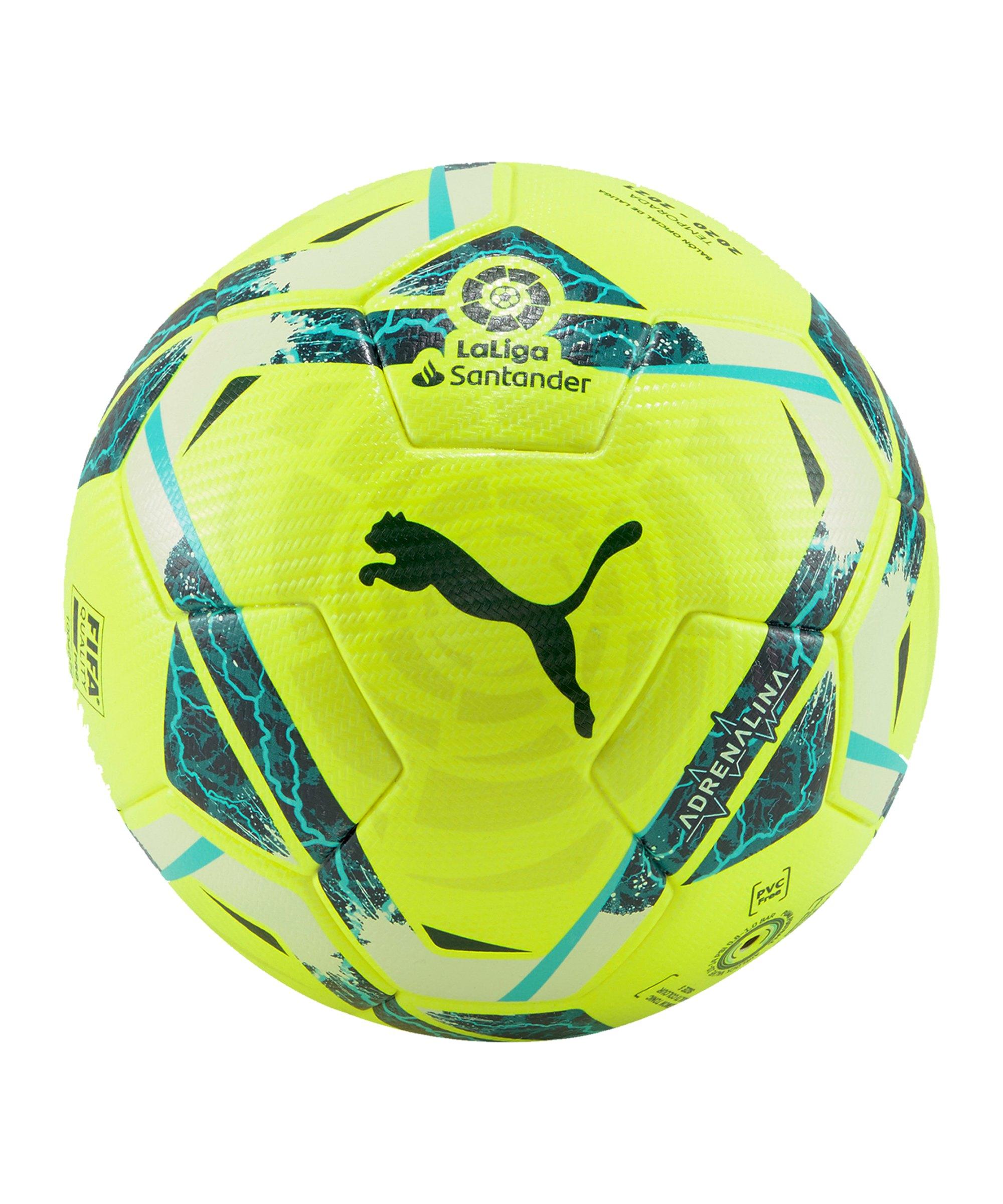 PUMA LaLiga 1 ADRENALINA Spielball Gelb F01 - gelb