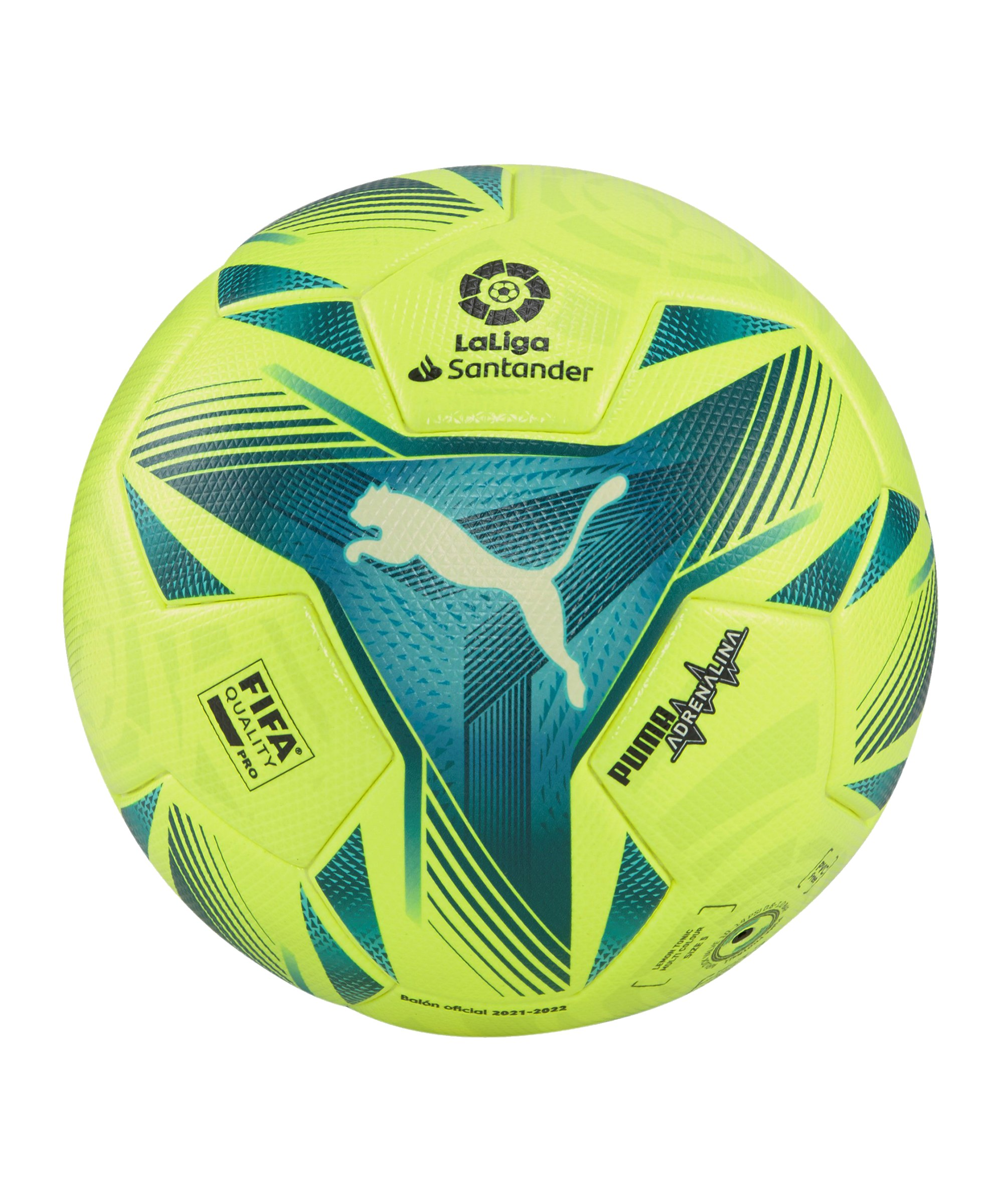 PUMA LaLiga 1 Adrenalina Spielball Weiss F01 - gelb