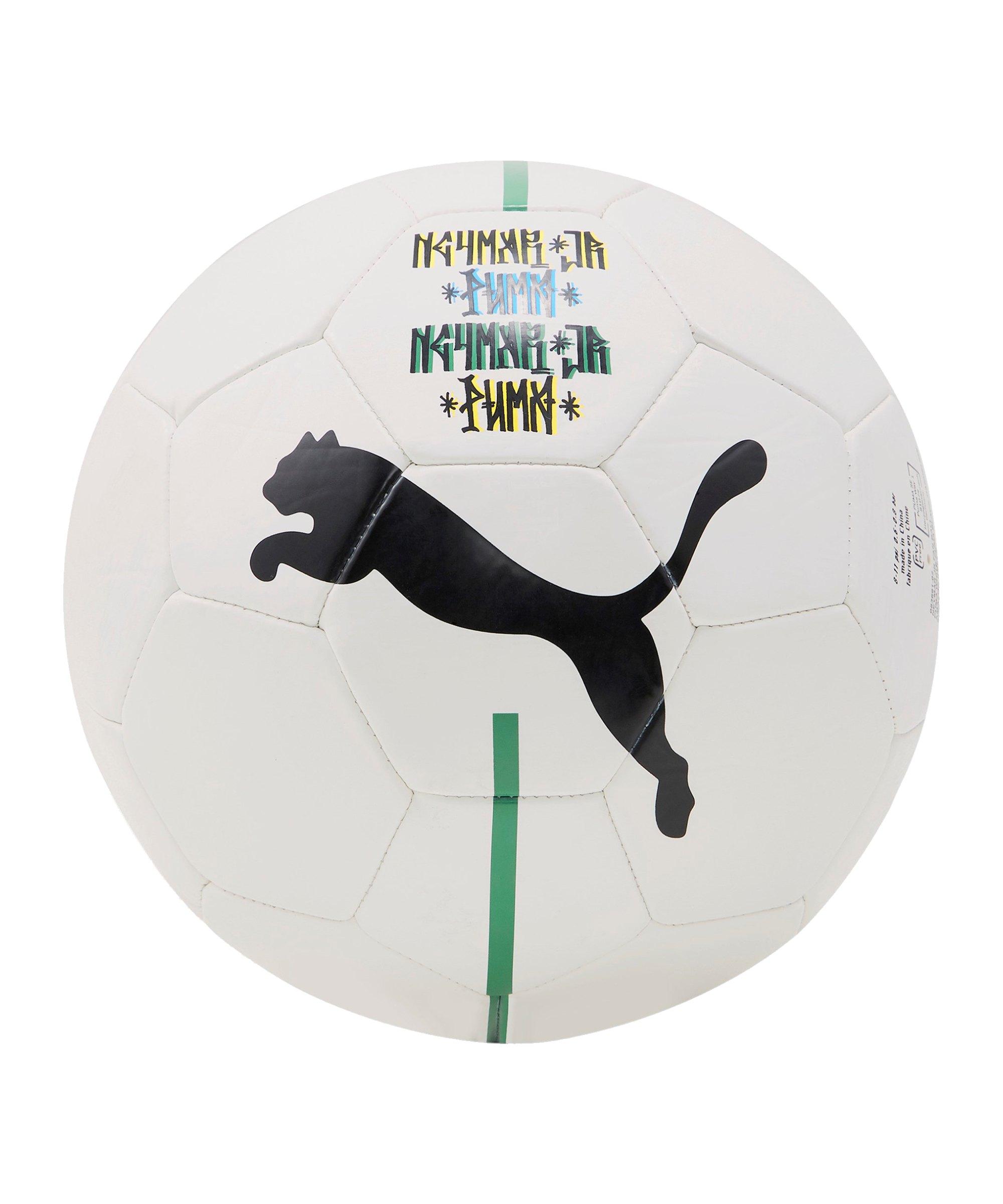 PUMA NJR Fan Ball Weiss Schwarz Gelb F02 - weiss