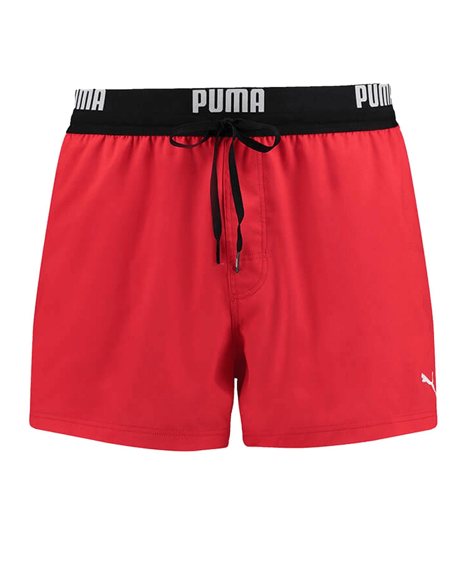 PUMA Swim Logo Badehose Rot F002 - rot