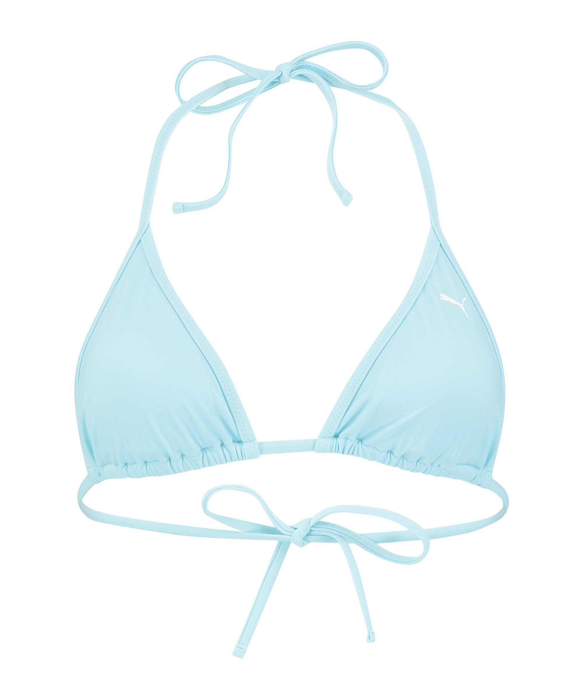 PUMA Triangel Bikini Top Damen Blau F010 - blau