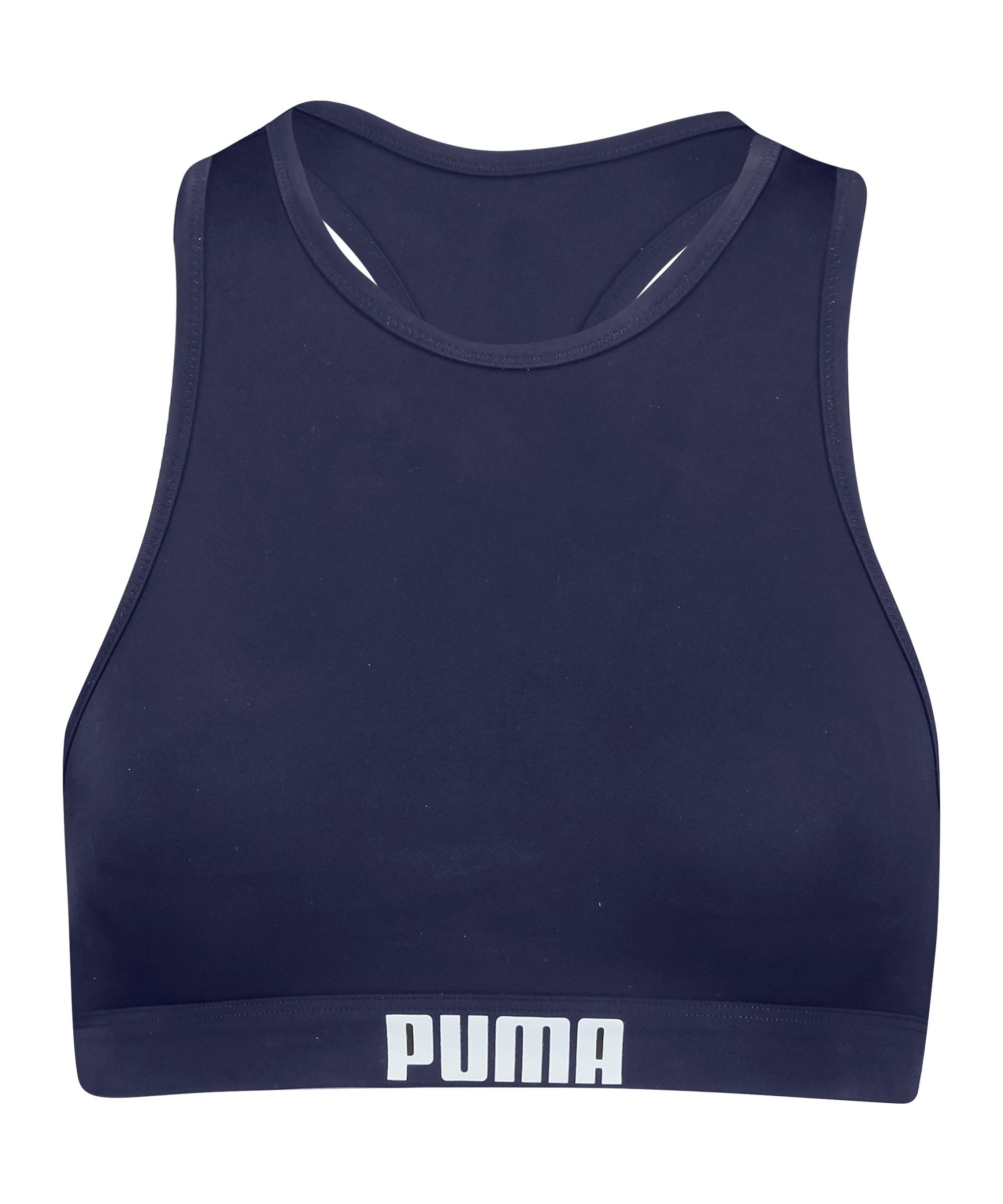 PUMA Racerback Bikini Top Damen Blau F001 - blau