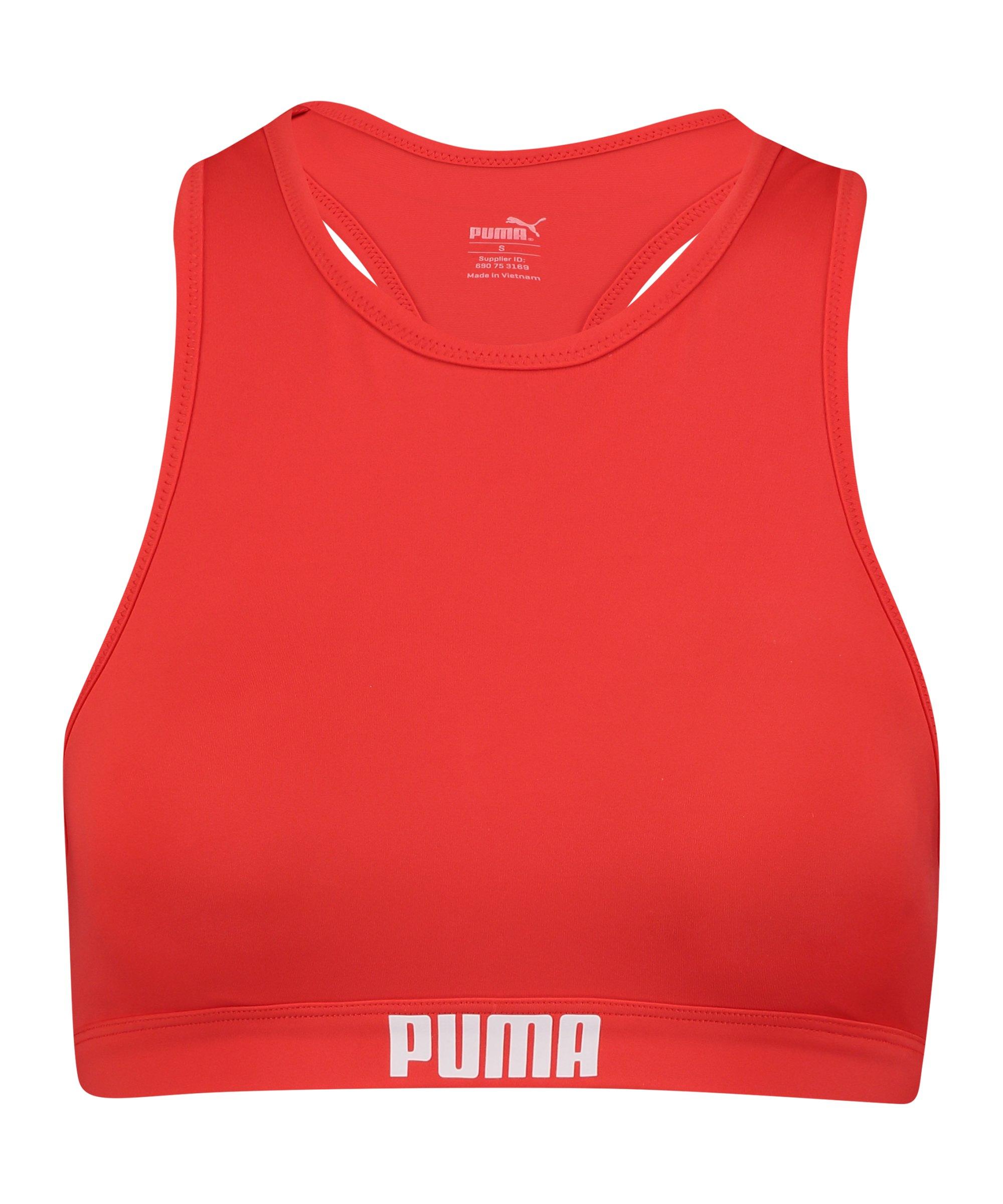 PUMA Racerback Bikini Top Damen Rot F002 - rot