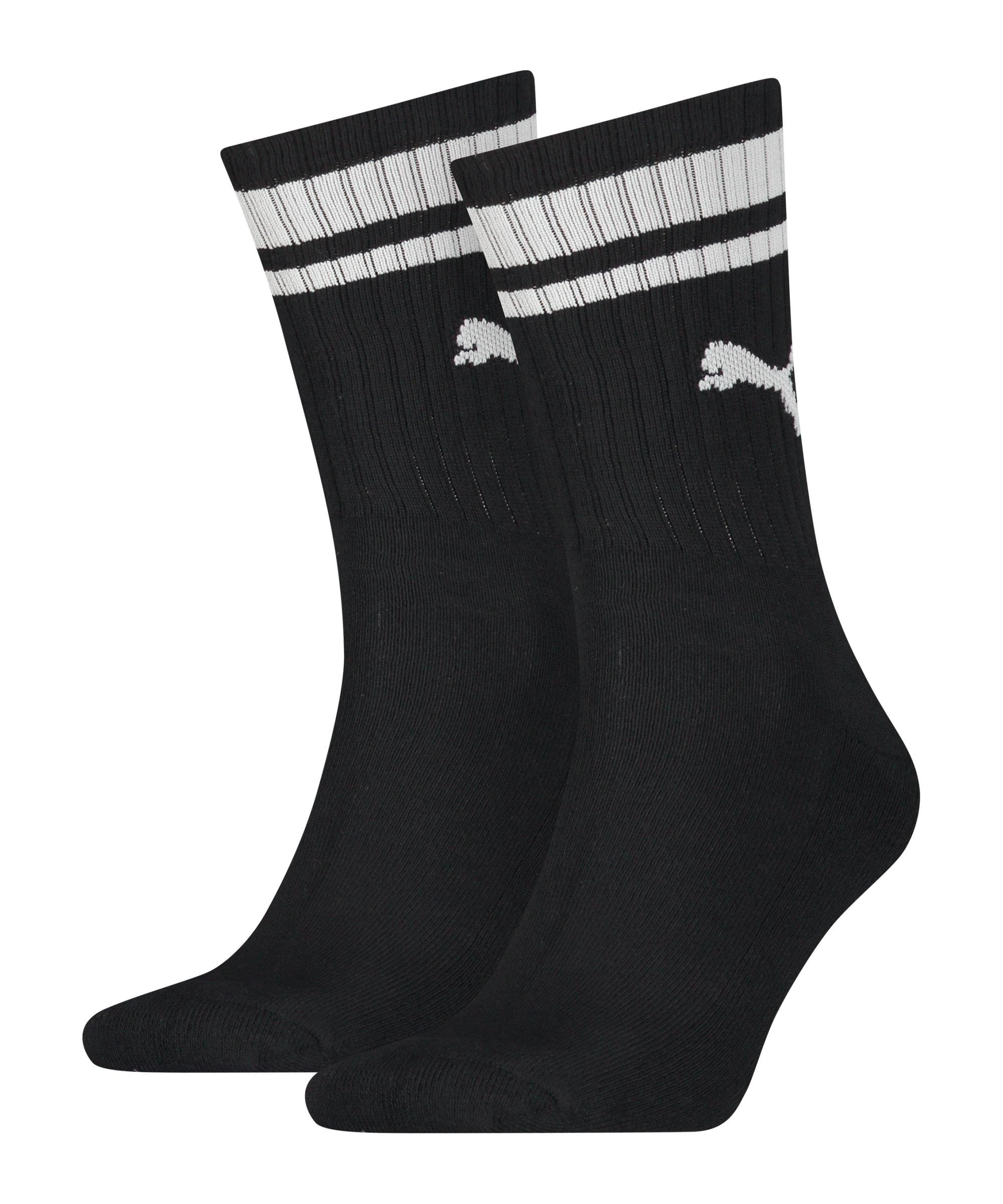 PUMA Crew Heritage Stripe 2er Pack Socken F001 - schwarz