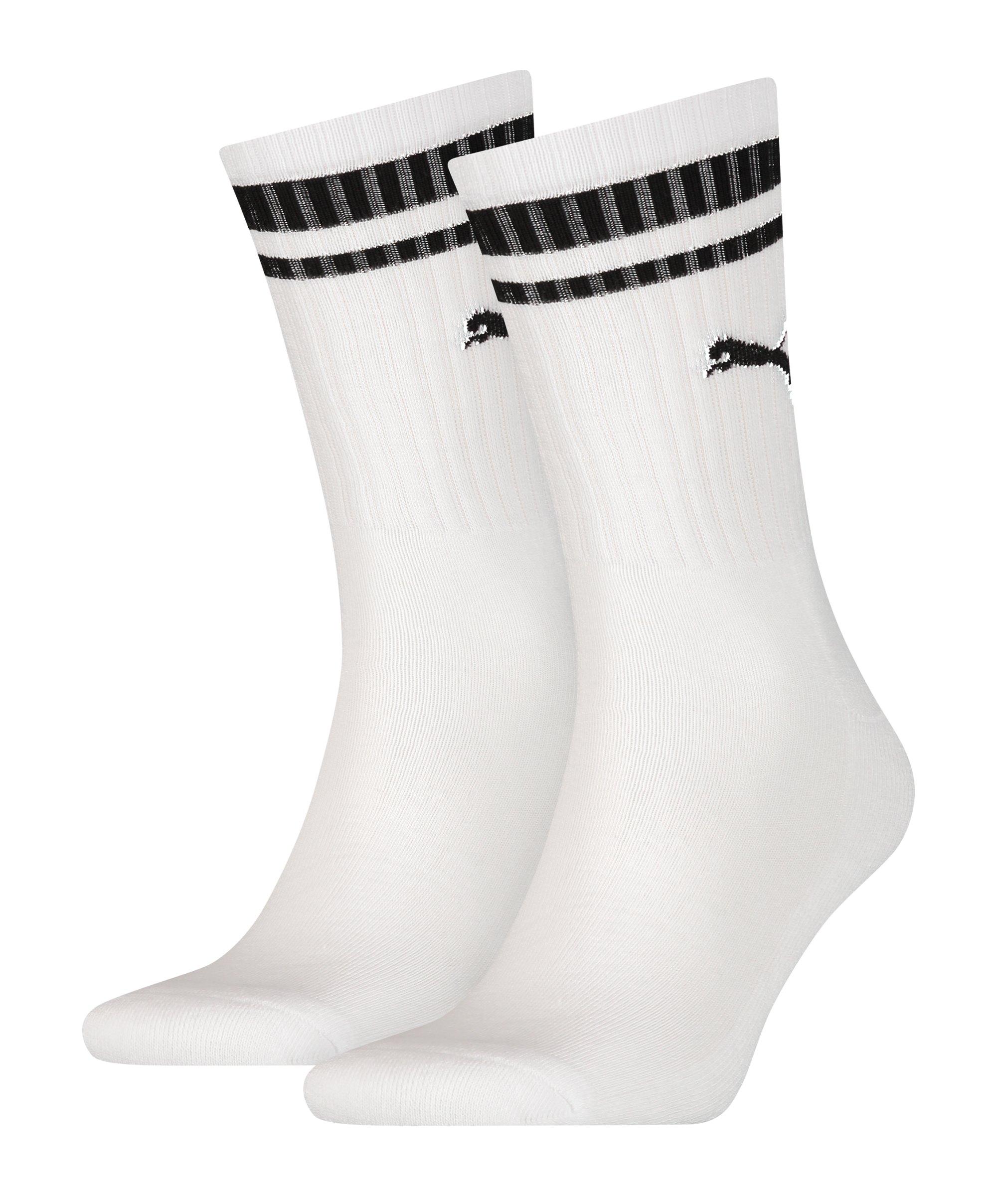 PUMA Crew Heritage Stripe 2er Pack Socken F002 - weiss