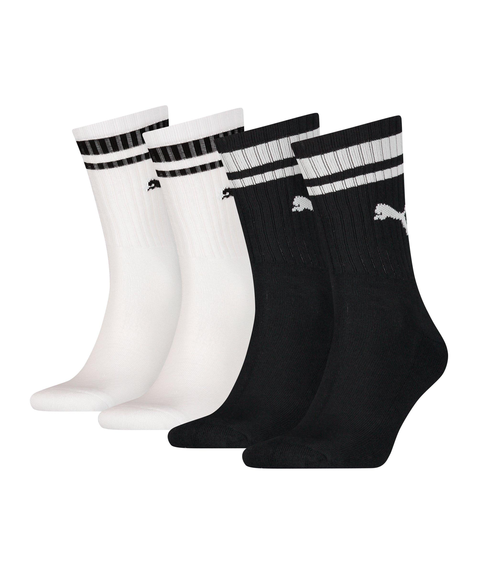 PUMA Crew Heritage Stripe 4er Pack Socken F003 - schwarz