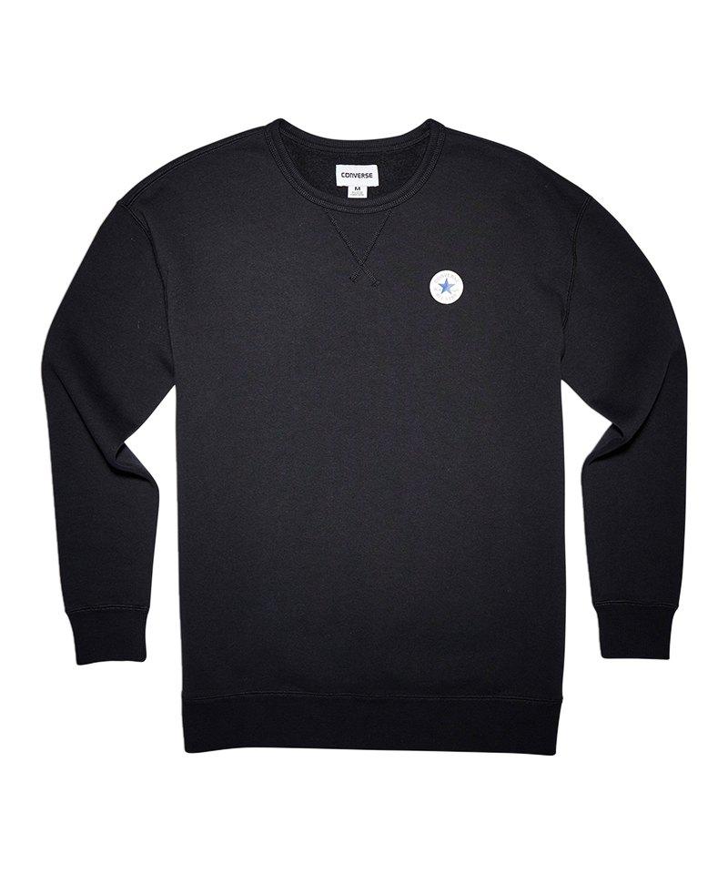 Converse Core Oversized Crew Sweatshirt Damen F001 - schwarz
