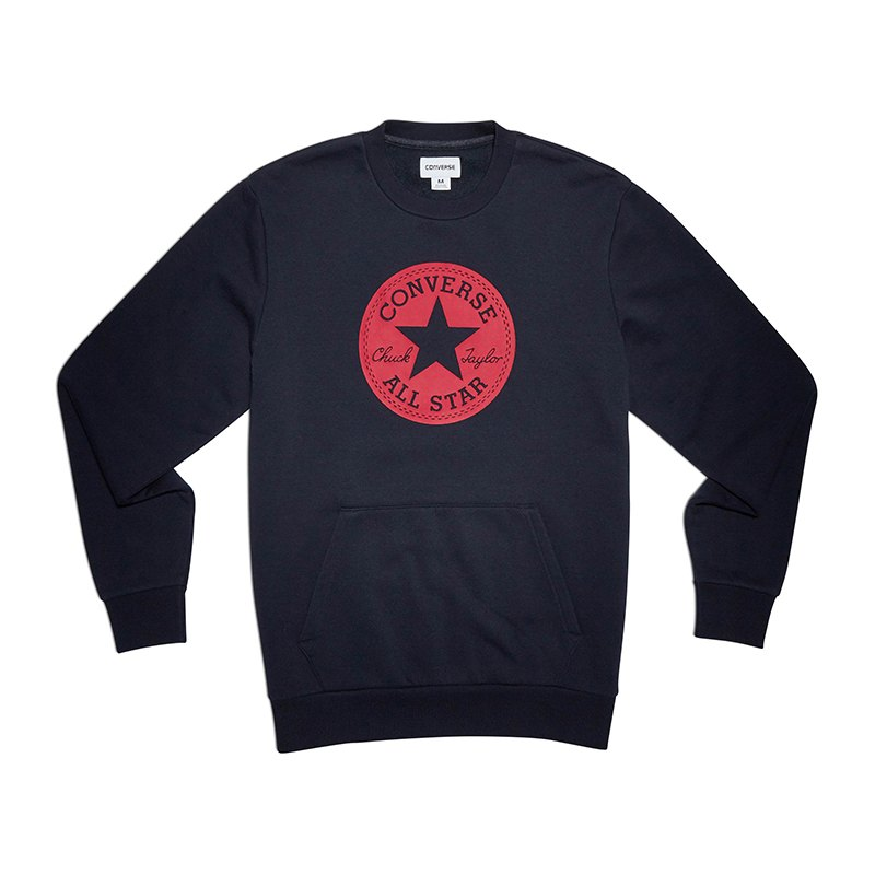 Converse Chuck Patch Graphic Crew Sweatshirt F424 - blau