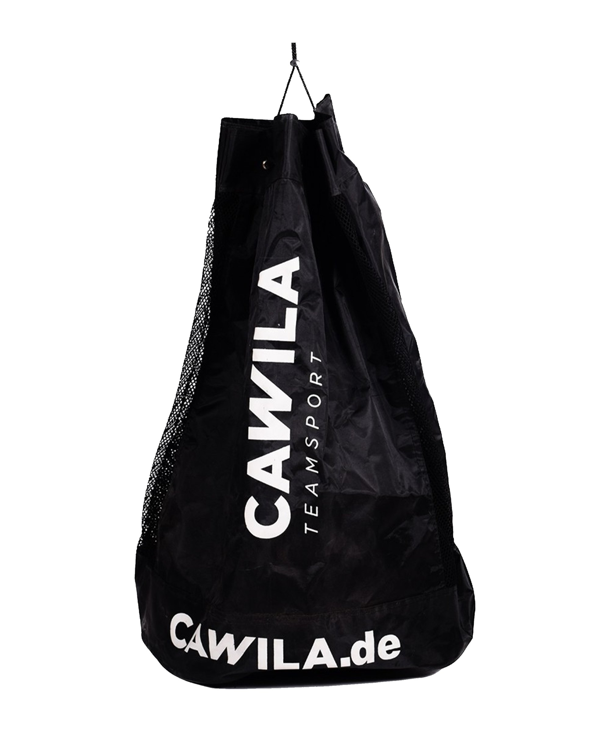 Cawila Ballsack 12 Fussbälle Schwarz - schwarz