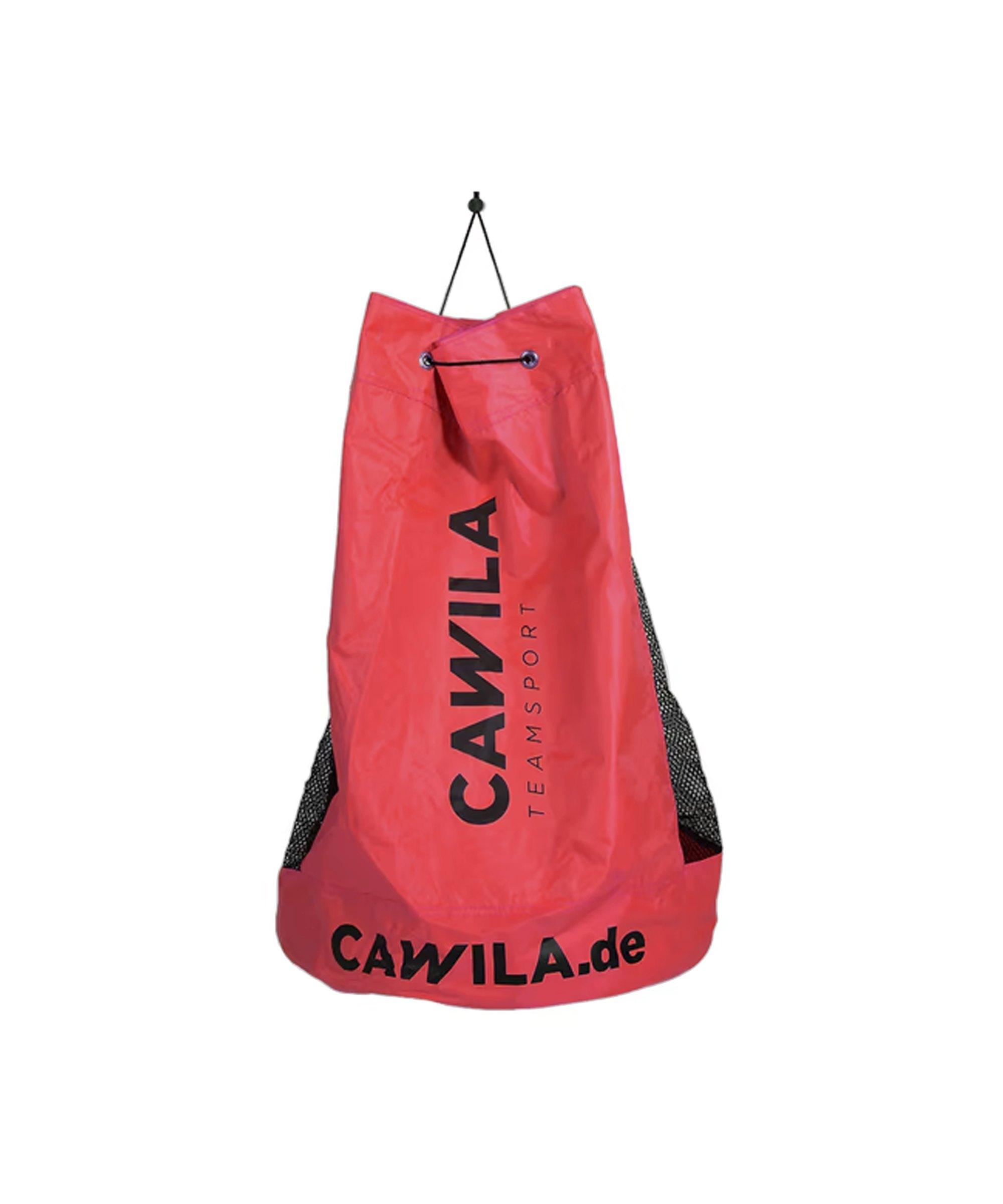 Cawila Ballsack 12 Fussbälle Rot - rot