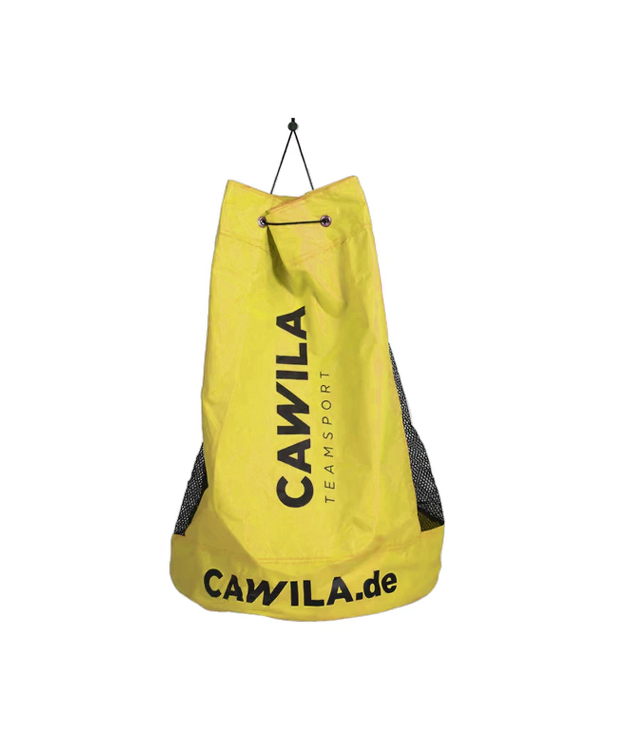 Cawila Ballsack 12 Fussbälle Gelb - gelb