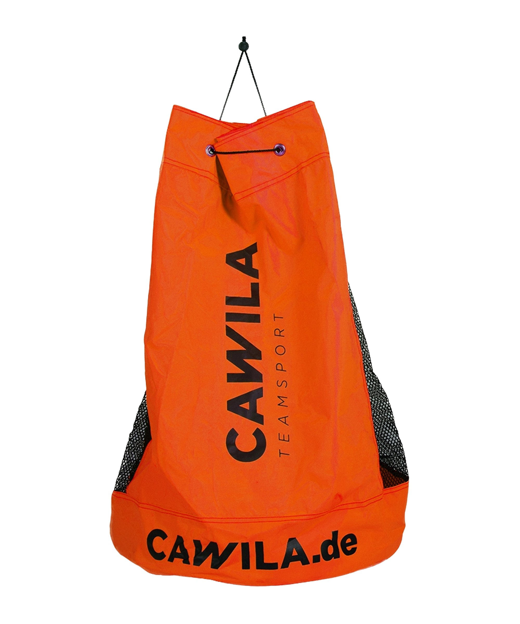 Cawila Ballsack 12 Fussbälle Orange - orange
