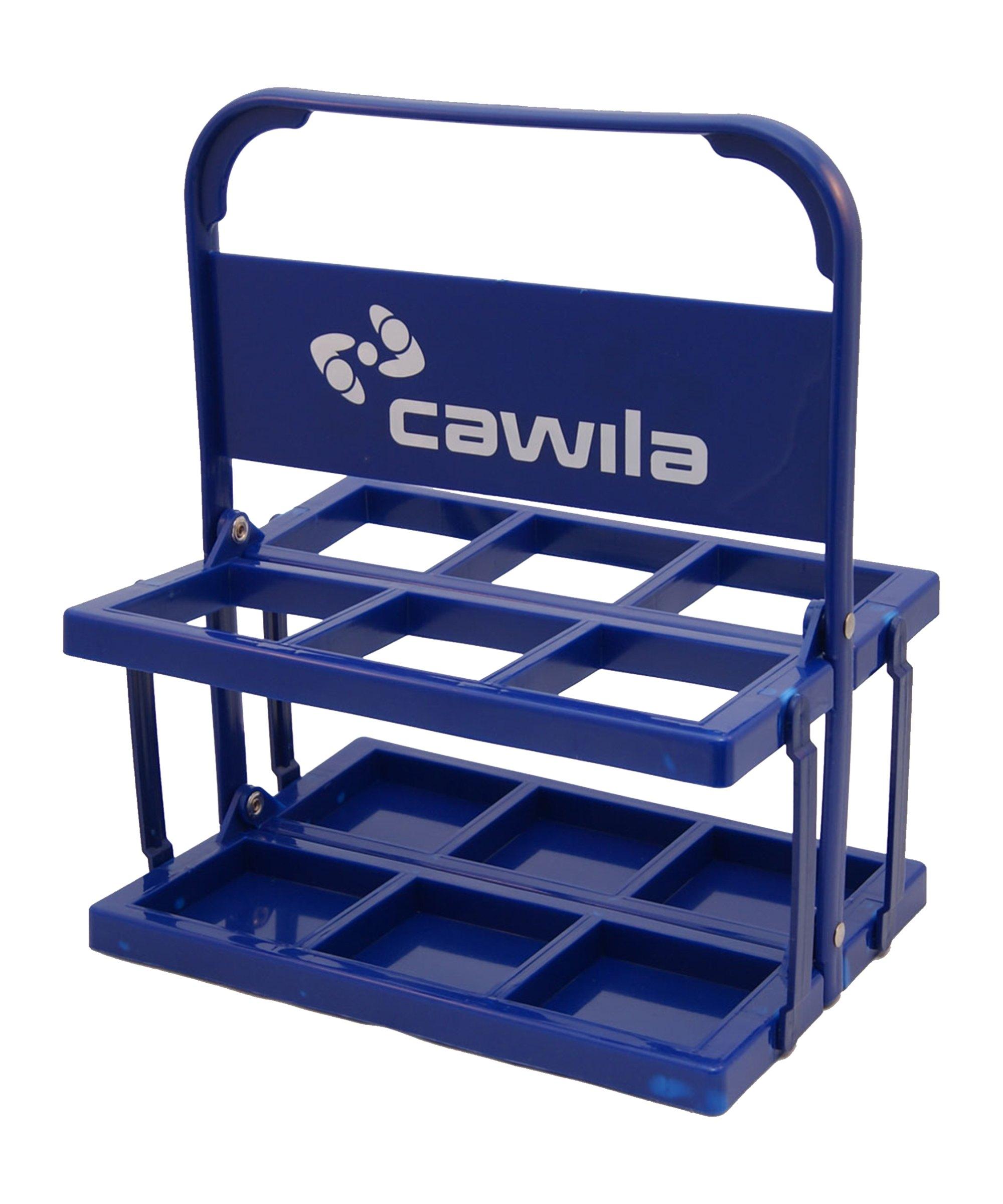 Cawila Flaschenkorb für 6 Trinkfaschen Blau - blau