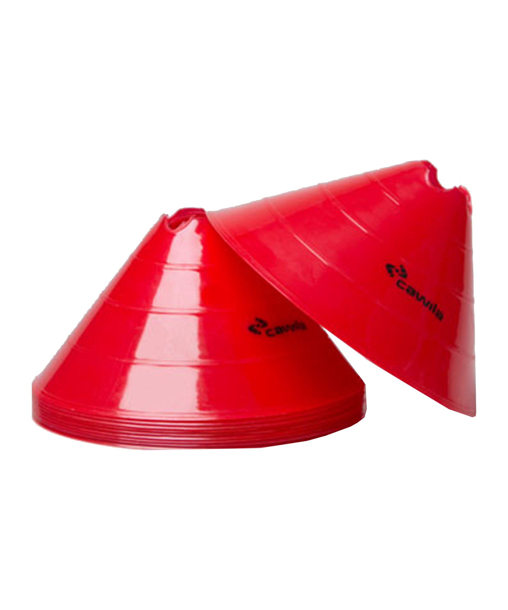 Cawila Markier.Scheiben L 10er d30cm 15cm Rot - rot