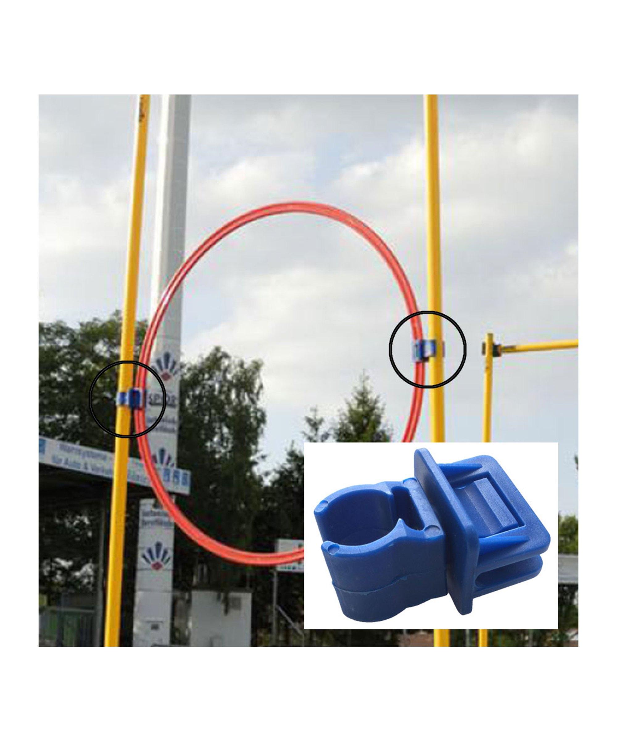 Cawila Halteclip für Ringe Stangen mit d25mm Blau - blau