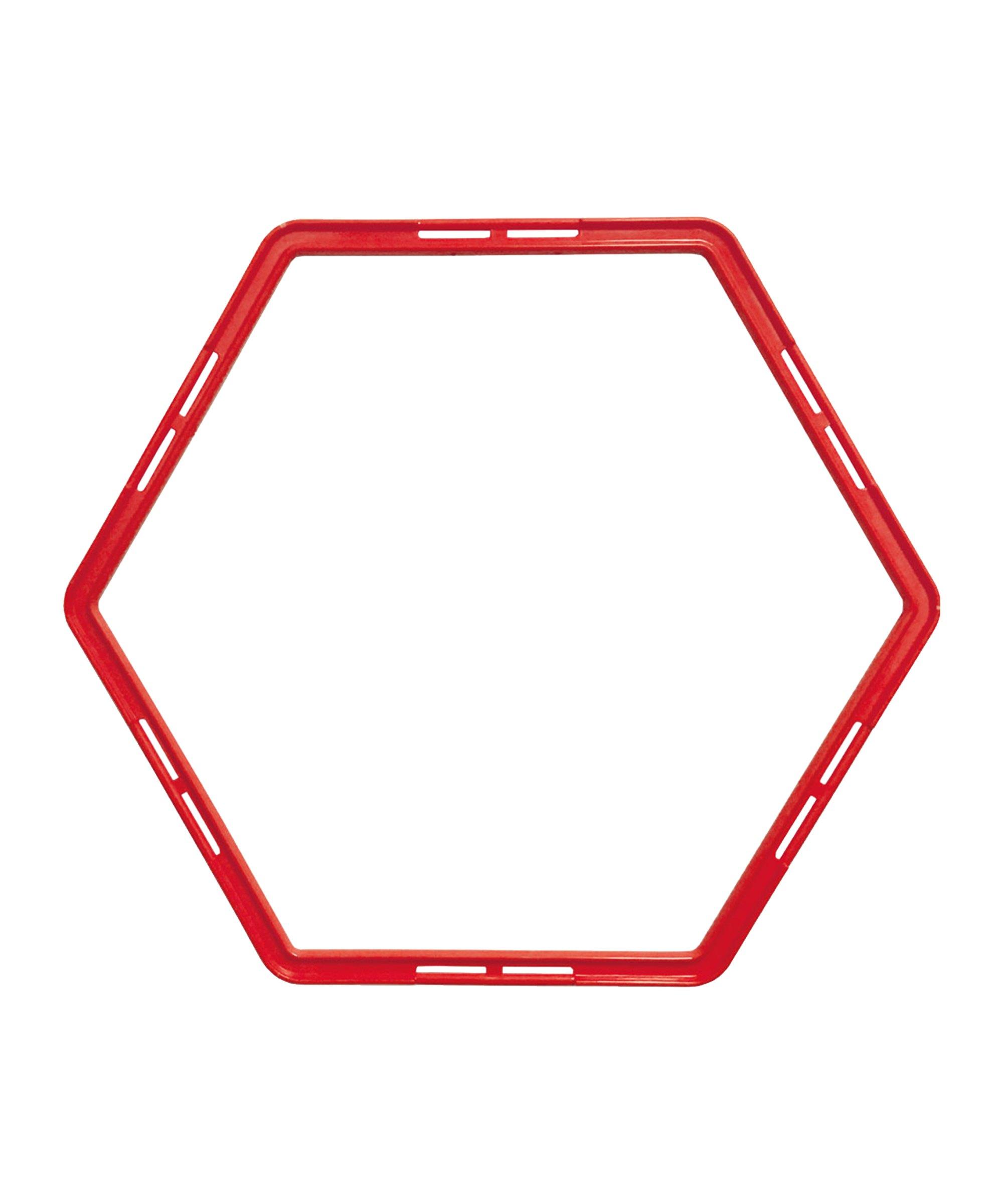 Cawila PRO TRAINING Hexa-Hoops Set d49mm Rot - rot