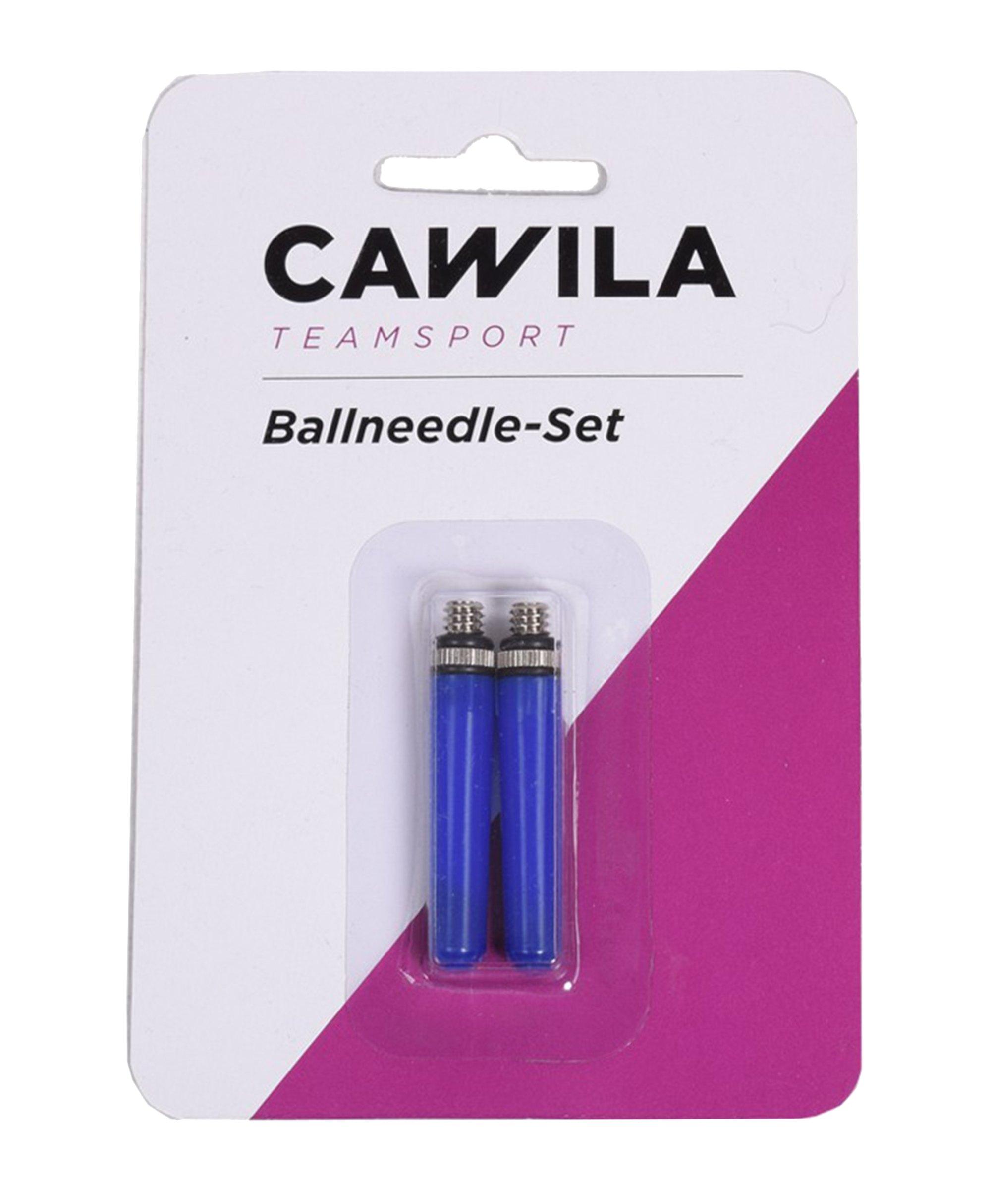 Cawila Ballnadel mit Ventilölkappe 2er Set - silber