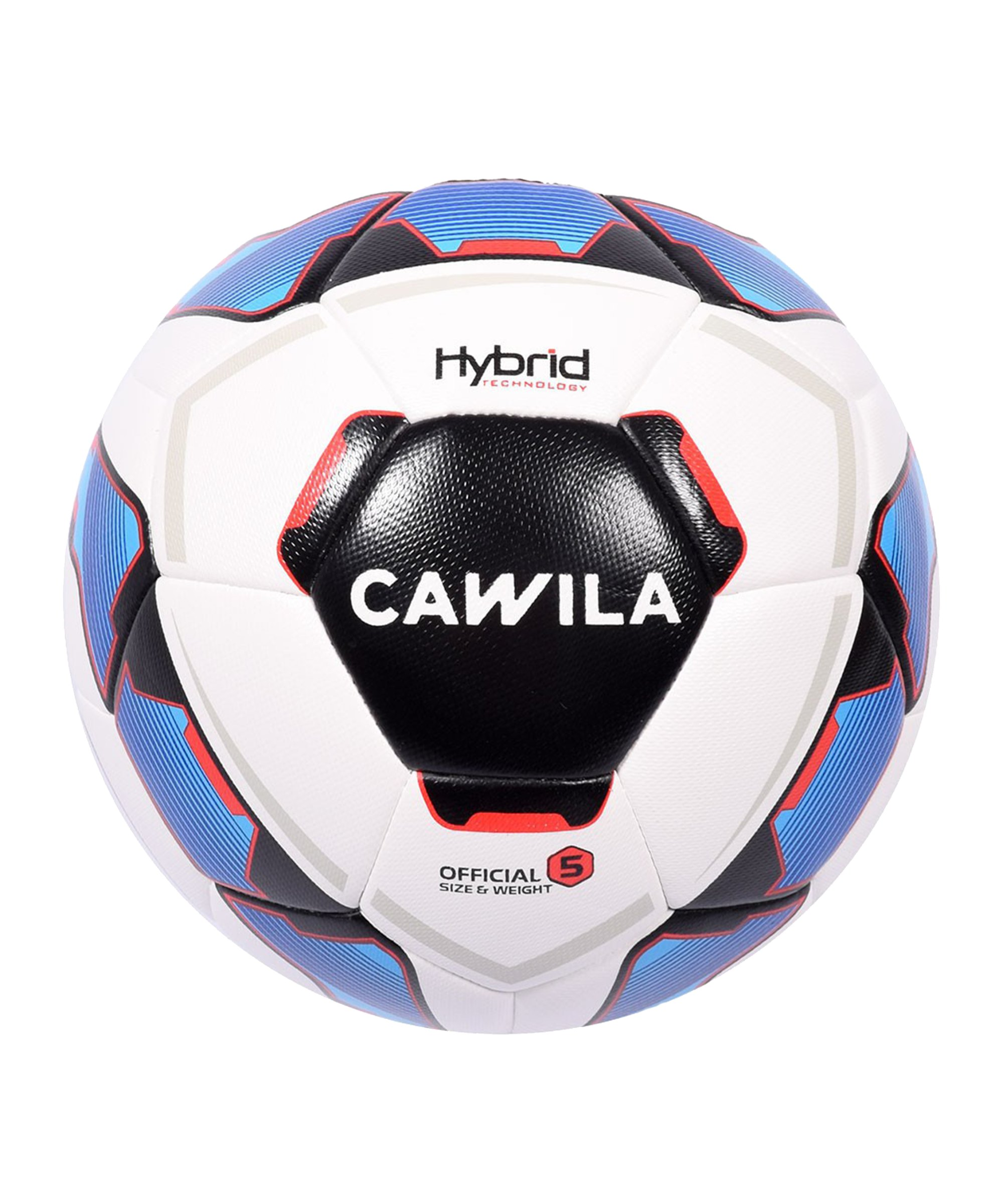 Cawila Fussball MISSION HYBRID Fairtrade 5 - weiss
