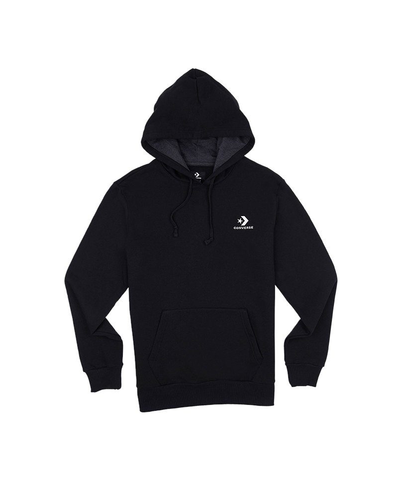 Converse Star Chevron Hoody Kapuzensweatshirt F001 - schwarz